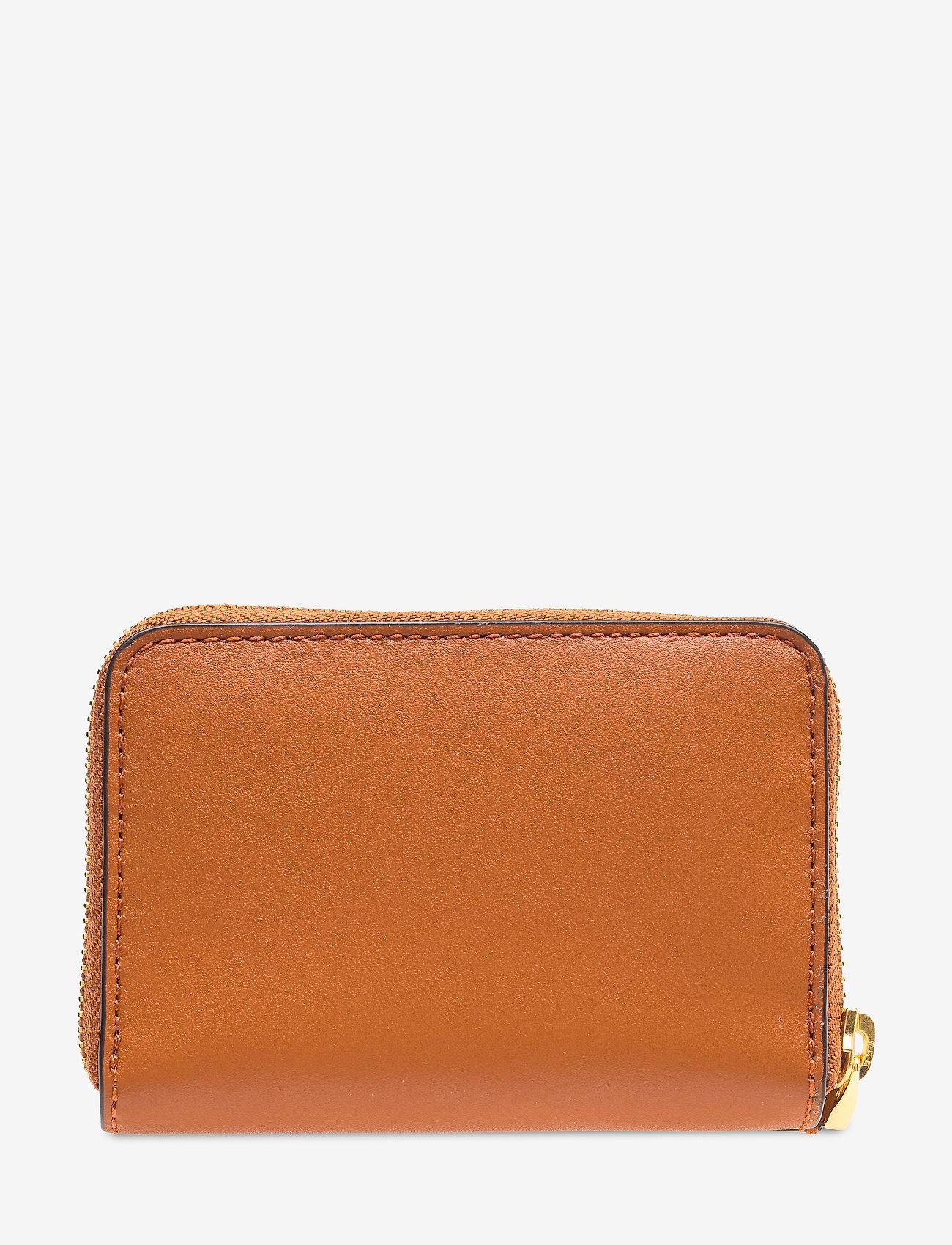 Lauren Ralph Lauren - Leather Zip Wallet - beurzen - lauren tan/monarc - 1