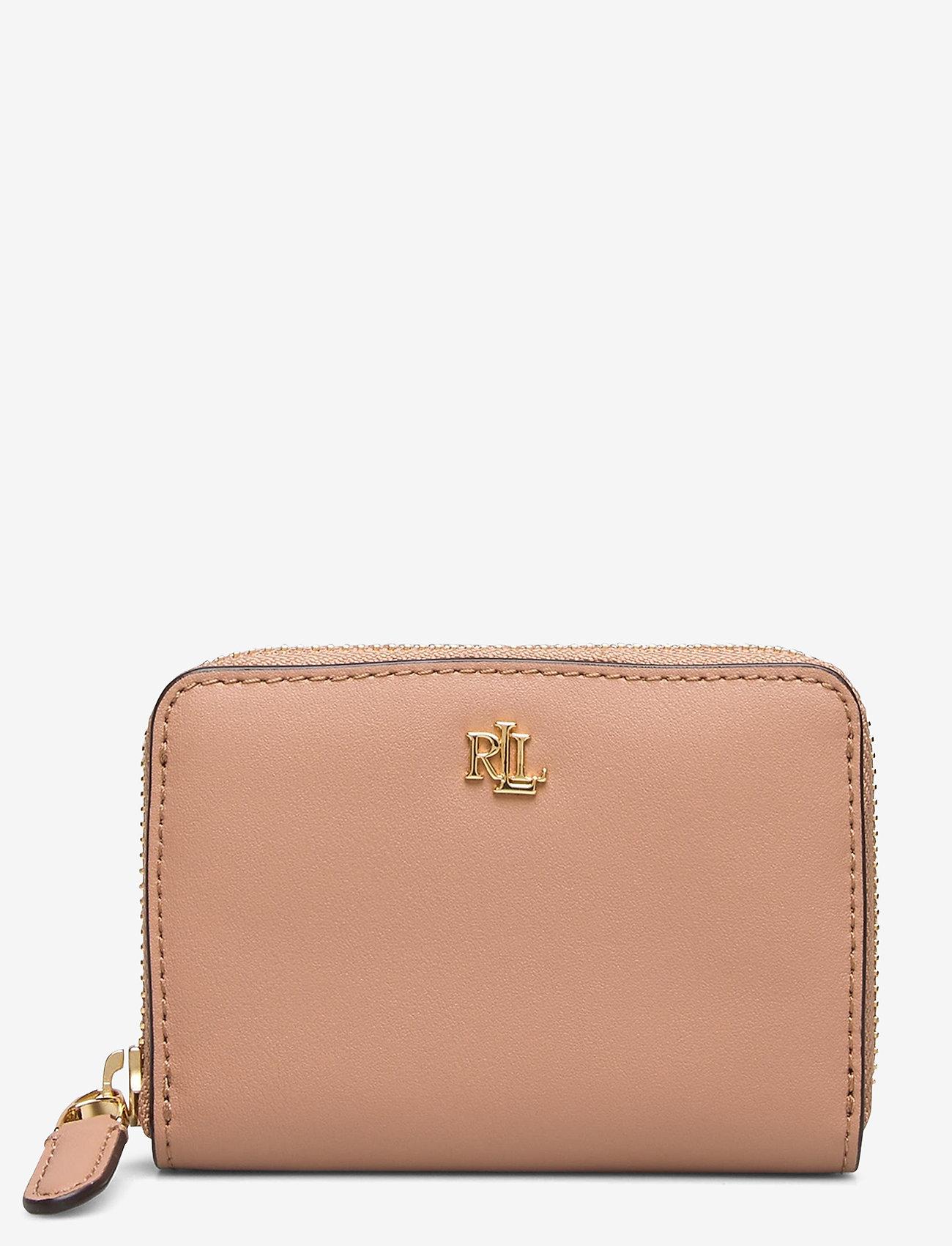 Lauren Ralph Lauren - Leather Zip Wallet - portfele - nude/nude - 0