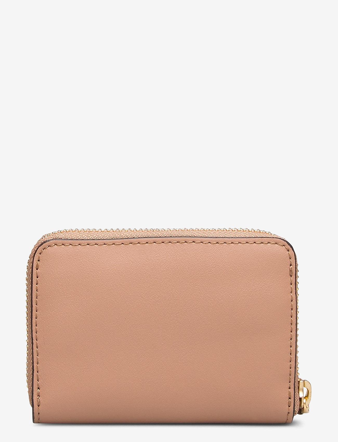 Lauren Ralph Lauren - Leather Zip Wallet - portfele - nude/nude - 1