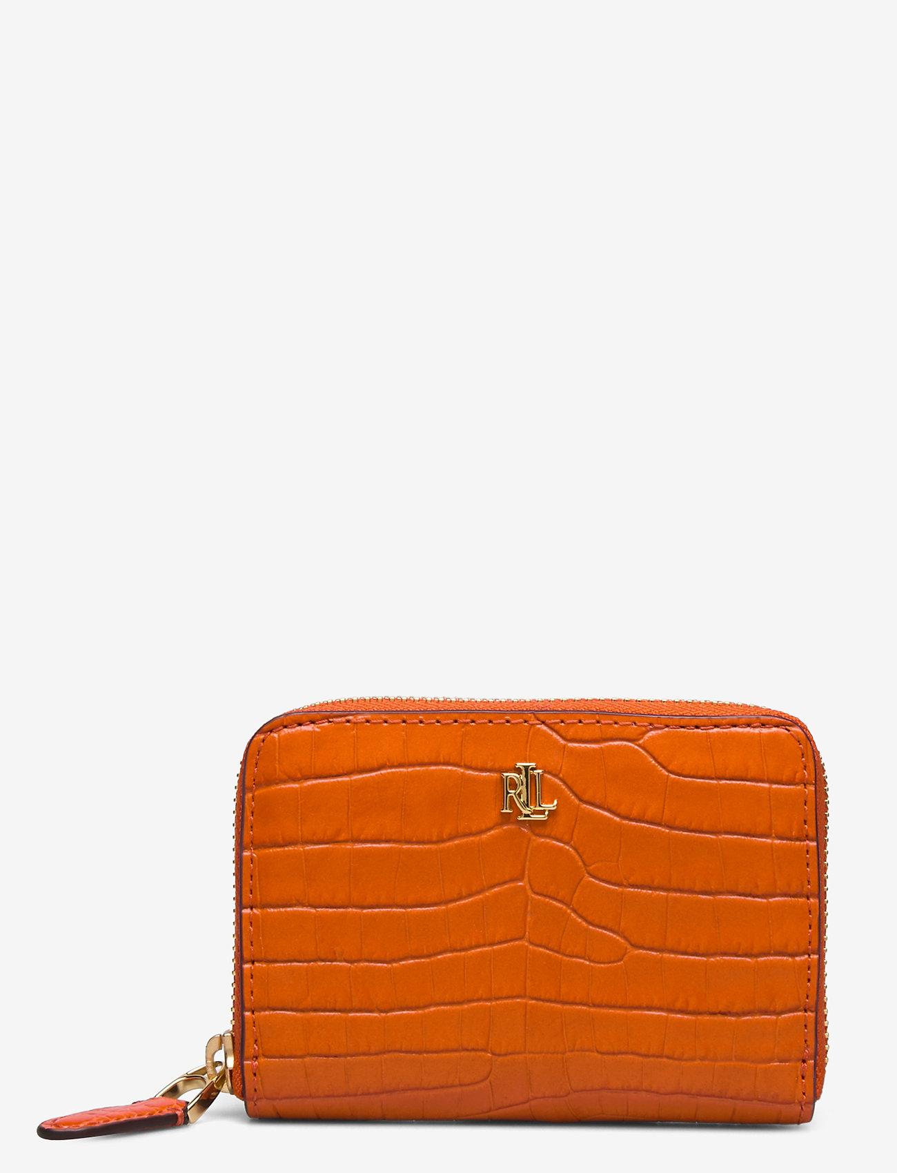 Lauren Ralph Lauren - Leather Small Zip Wallet - beurzen - sailing orange - 0
