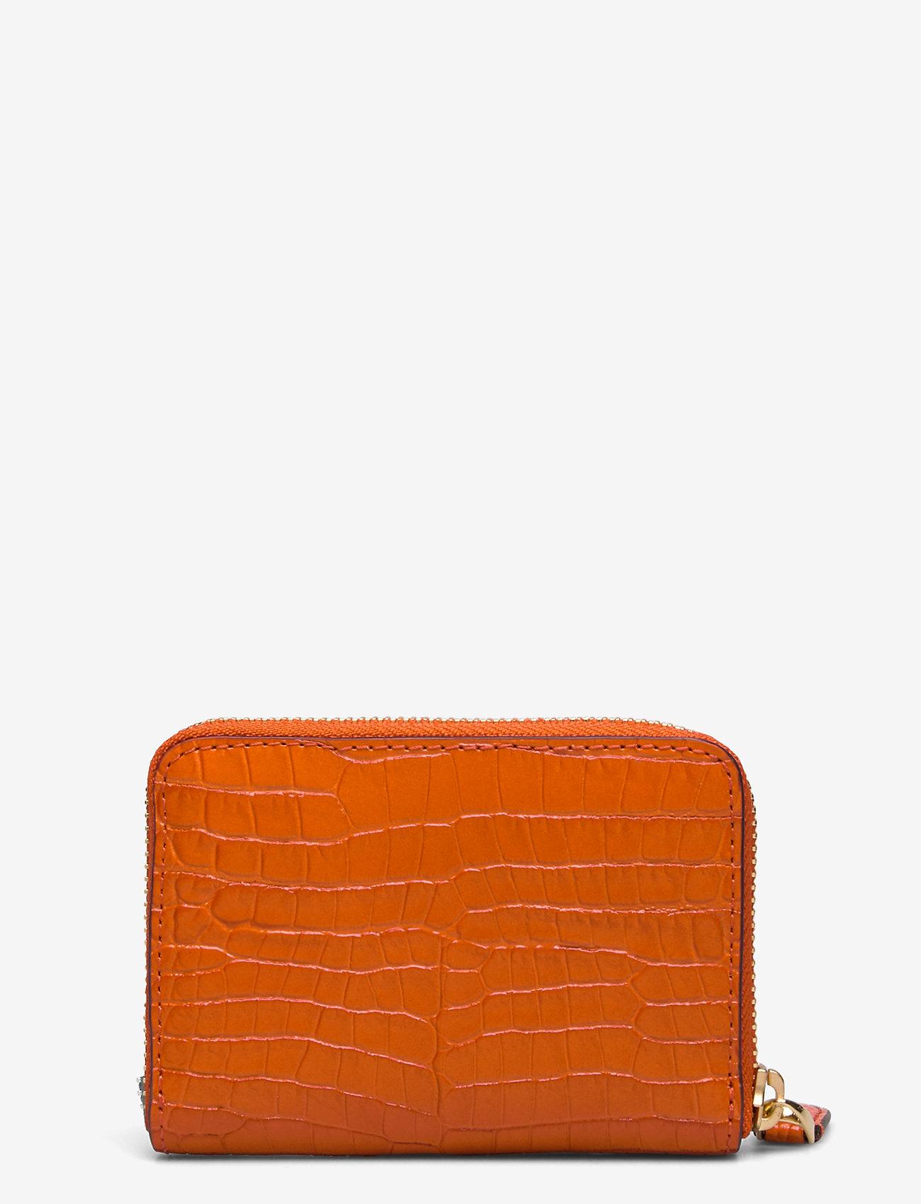 Lauren Ralph Lauren - Leather Small Zip Wallet - beurzen - sailing orange - 1