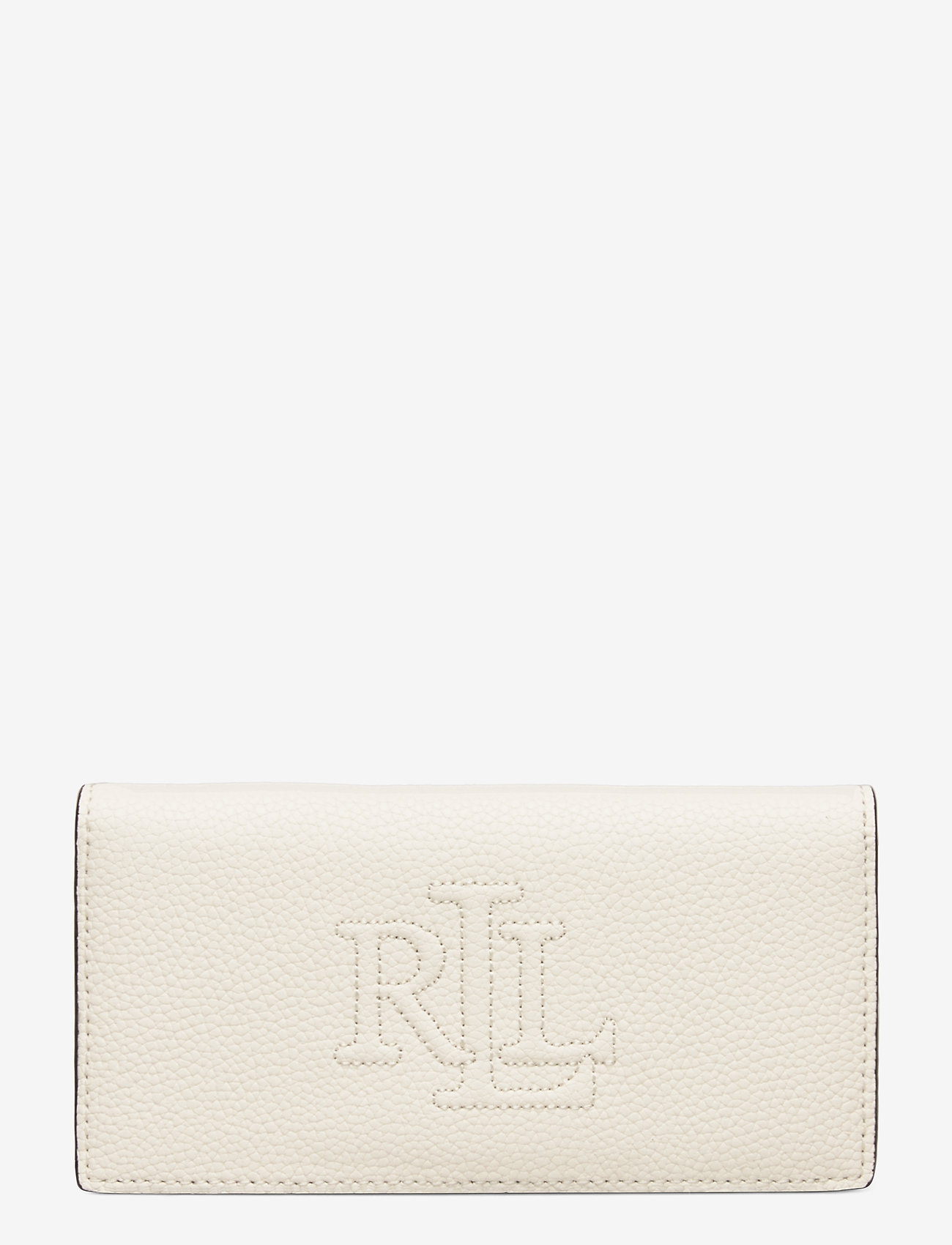 Lauren Ralph Lauren - Slim Pebbled Leather Wallet - beurzen - vanilla - 0