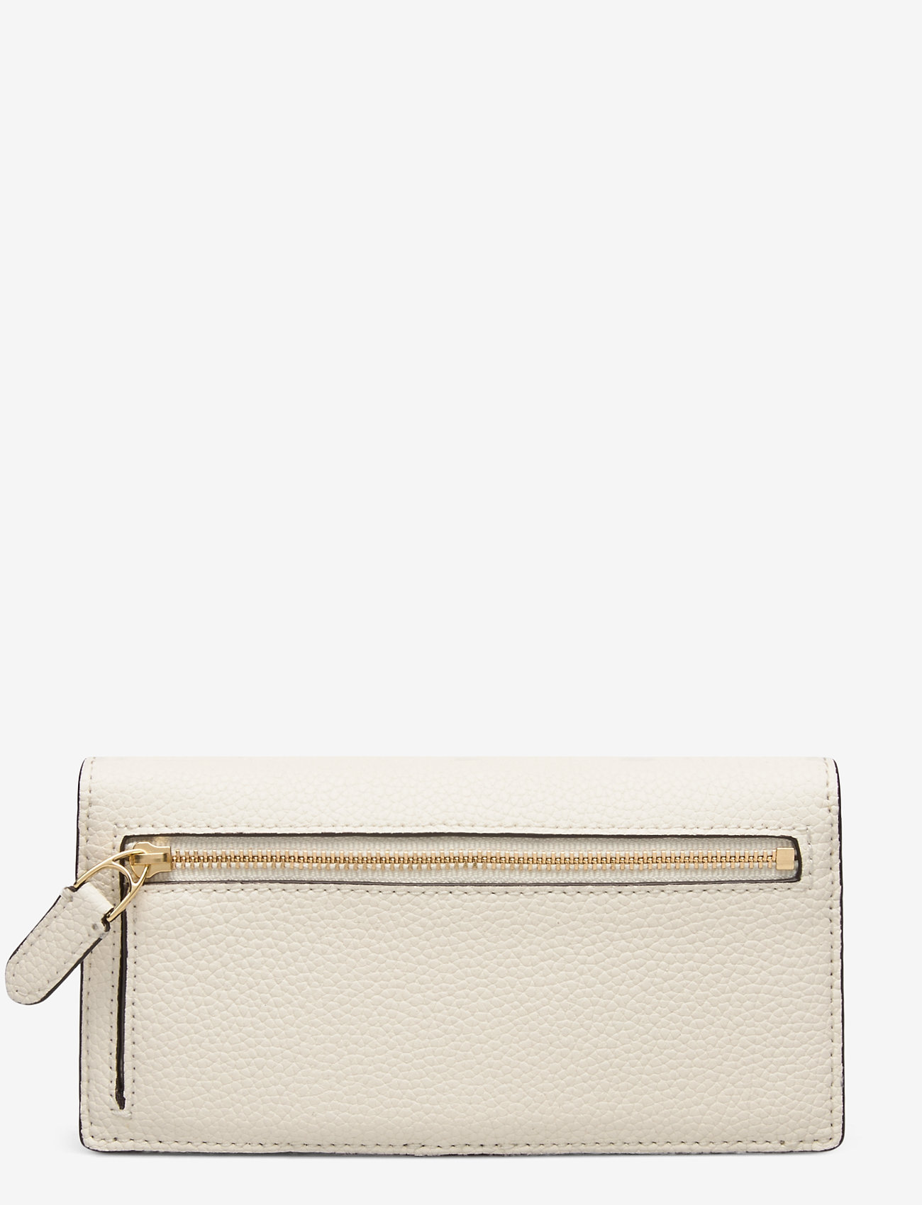 Lauren Ralph Lauren - Slim Pebbled Leather Wallet - beurzen - vanilla - 1