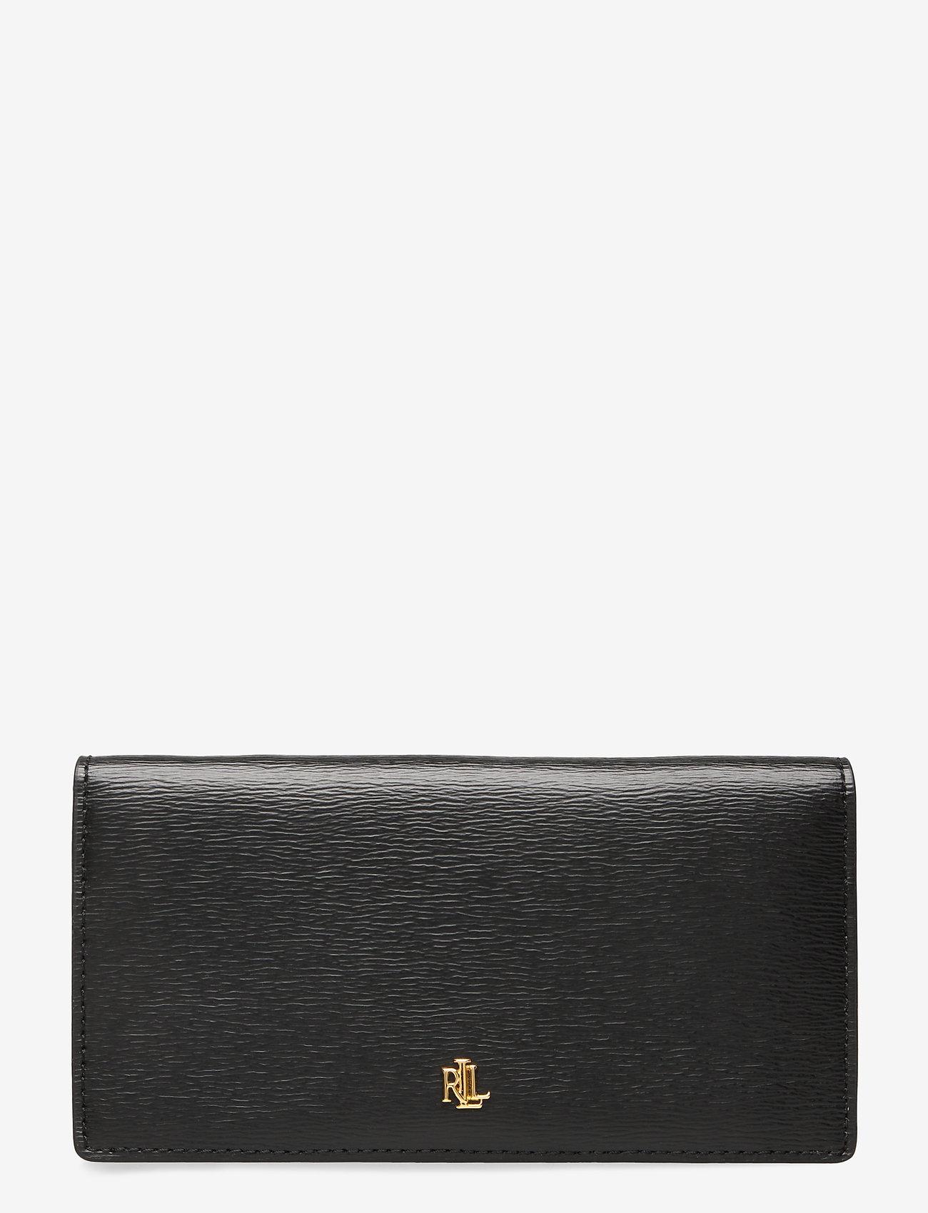 Lauren Ralph Lauren - Saffiano Slim Leather Wallet - beurzen - black - 0