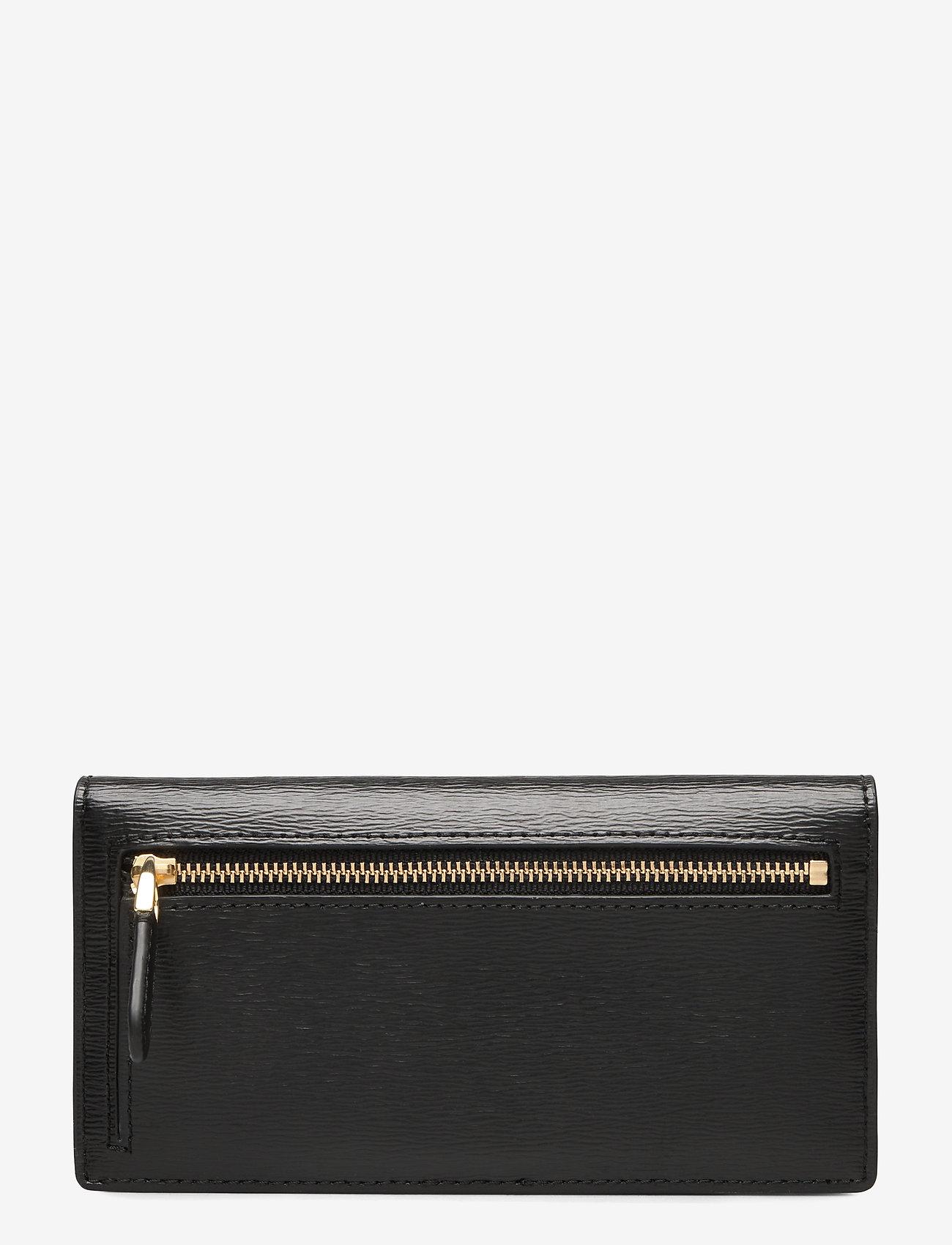 Lauren Ralph Lauren - Saffiano Slim Leather Wallet - beurzen - black - 1
