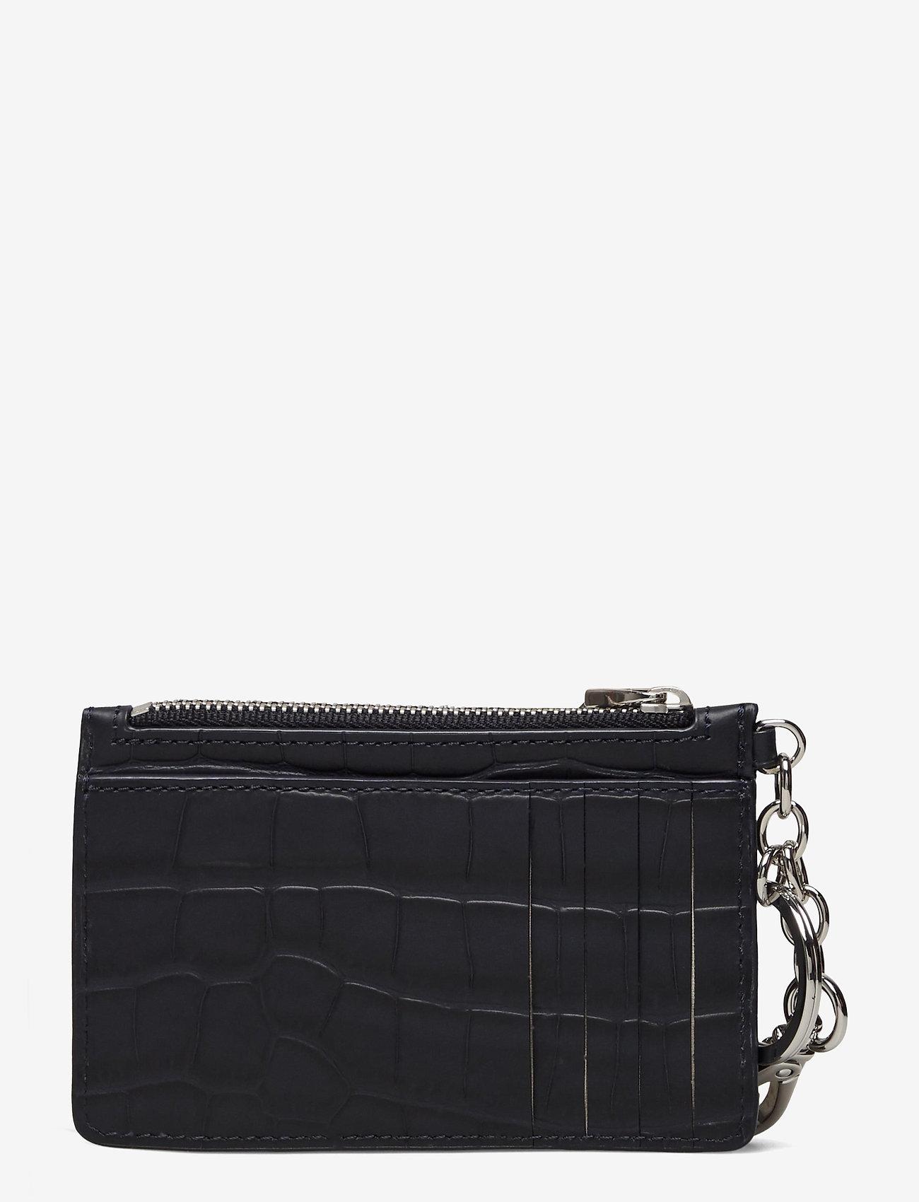 Lauren Ralph Lauren - Embossed Leather Zip Card Case - kortholdere - lauren navy - 1
