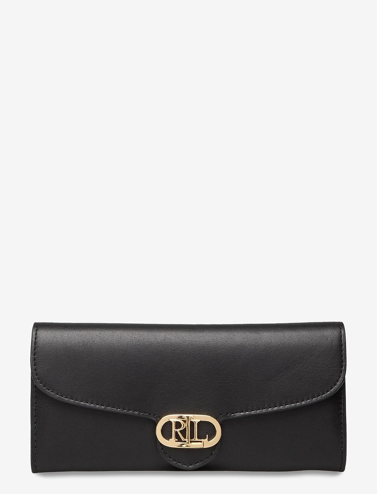 Lauren Ralph Lauren - Vegan Leather Continental Wallet - punge - black - 0