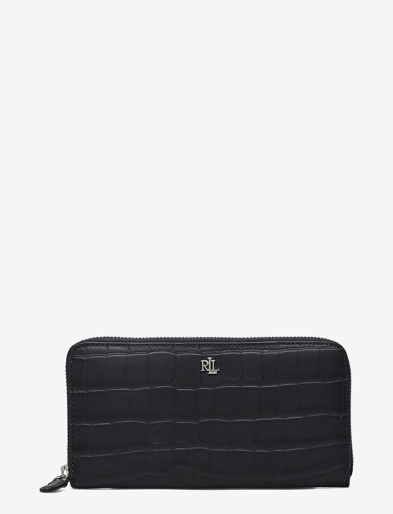 Lauren Ralph Lauren - Embossed Leather Continental Wallet - punge - lauren navy - 0