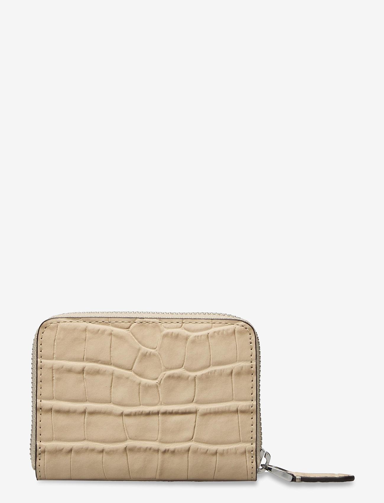 Lauren Ralph Lauren - Embossed-Leather Small Zip Wallet - punge - dune tan - 1