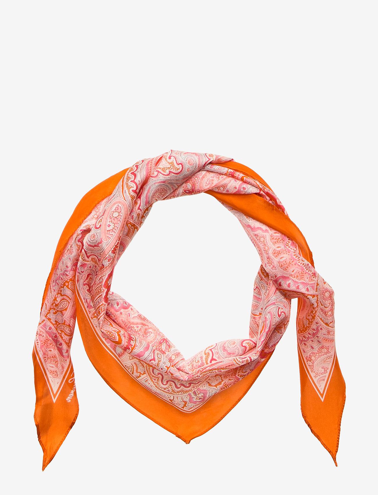 """Lauren Ralph Lauren - SILK-24"""" X 54"""" OLIVIA - skjerf - dusk orange"""