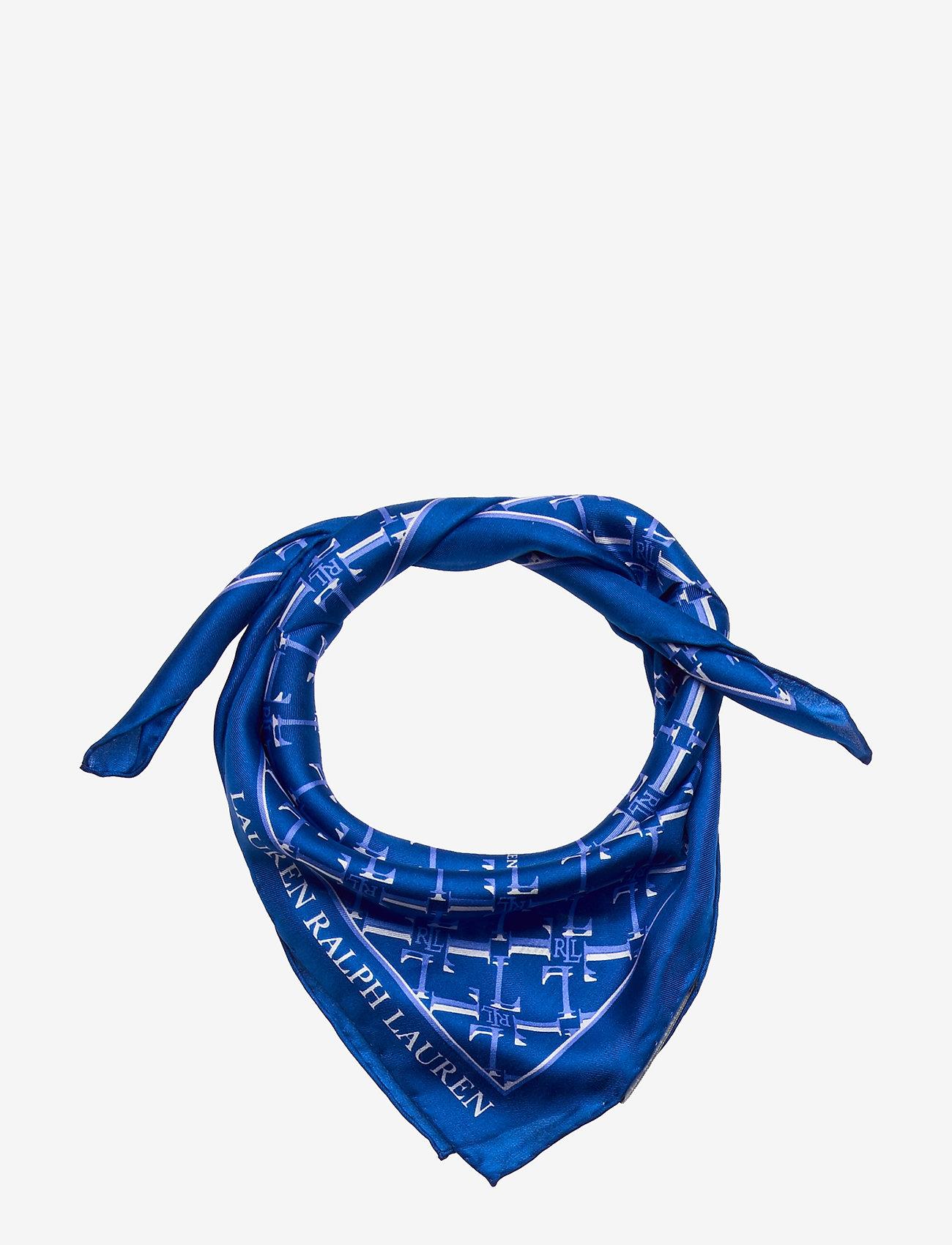 """Lauren Ralph Lauren - SILK-22"""" X 22"""" AMELIA - skjerf - blue glacier"""