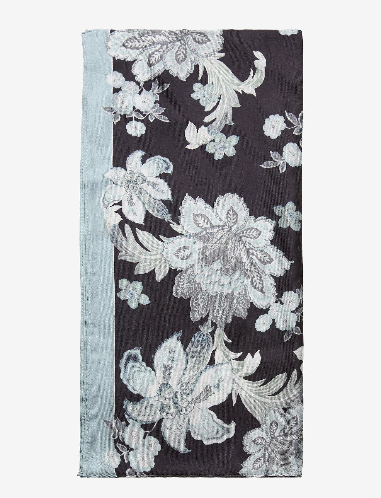 Lauren Ralph Lauren - Anjali Oblong Silk Twill Scarf - tynde tørklæder - blue - 1