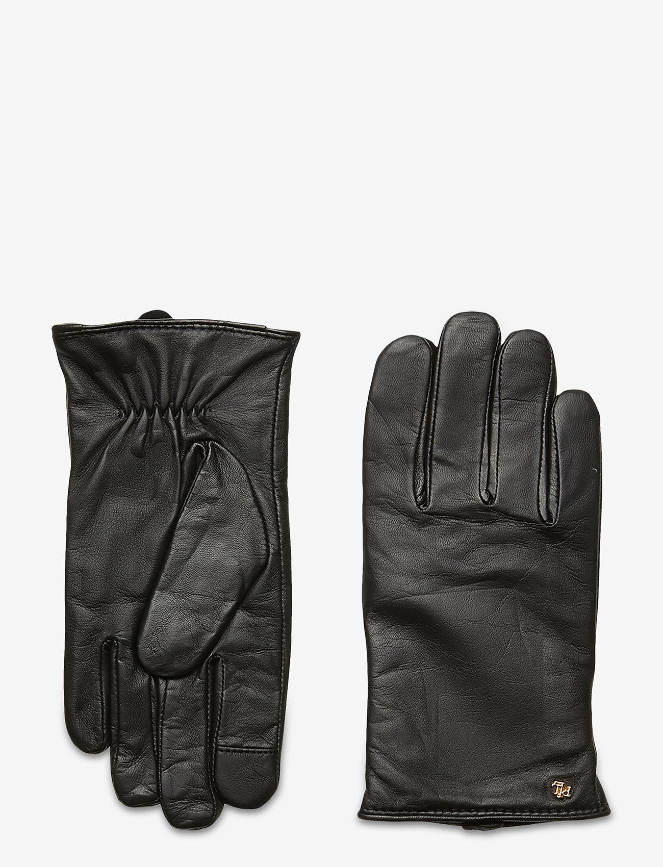 Lauren Ralph Lauren - Leather-Cashmere Gloves - handschoenen - black - 0