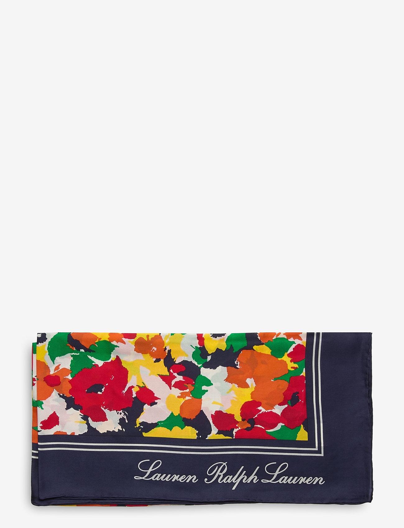 Lauren Ralph Lauren - Geri Square Silk Twill Scarf - tynde tørklæder - holiday navy - 1