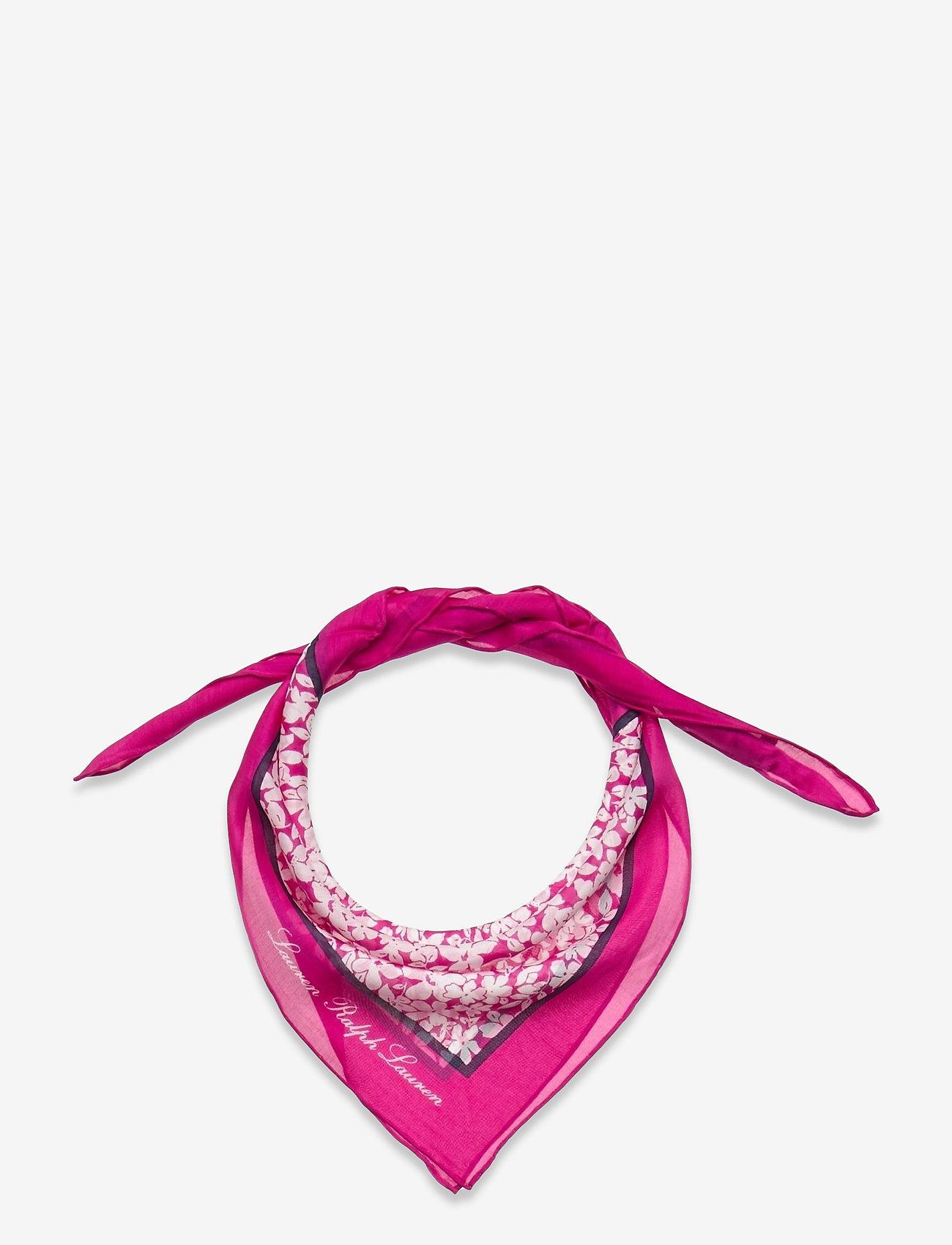 Lauren Ralph Lauren - Adriana Silk-Blend Square Scarf - accessories - deco bright pink - 0
