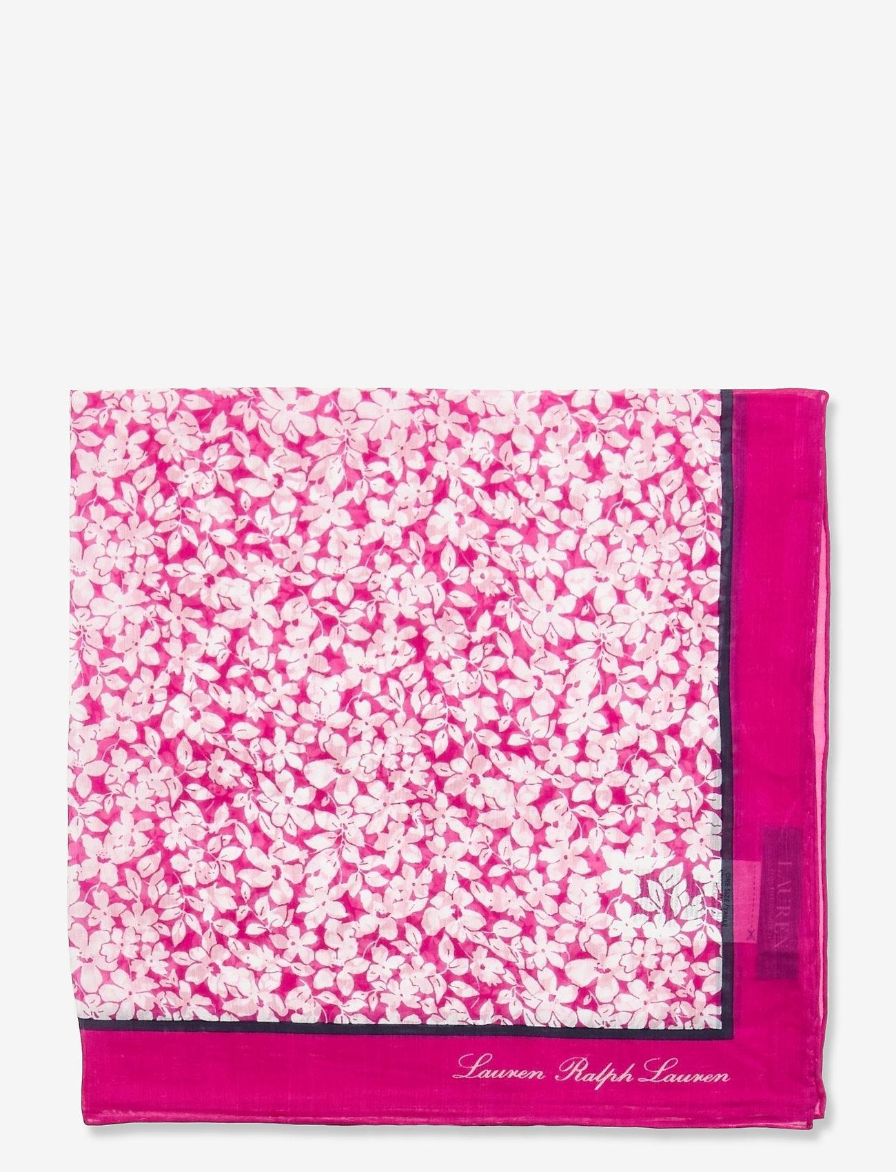 Lauren Ralph Lauren - Adriana Silk-Blend Square Scarf - accessories - deco bright pink - 1