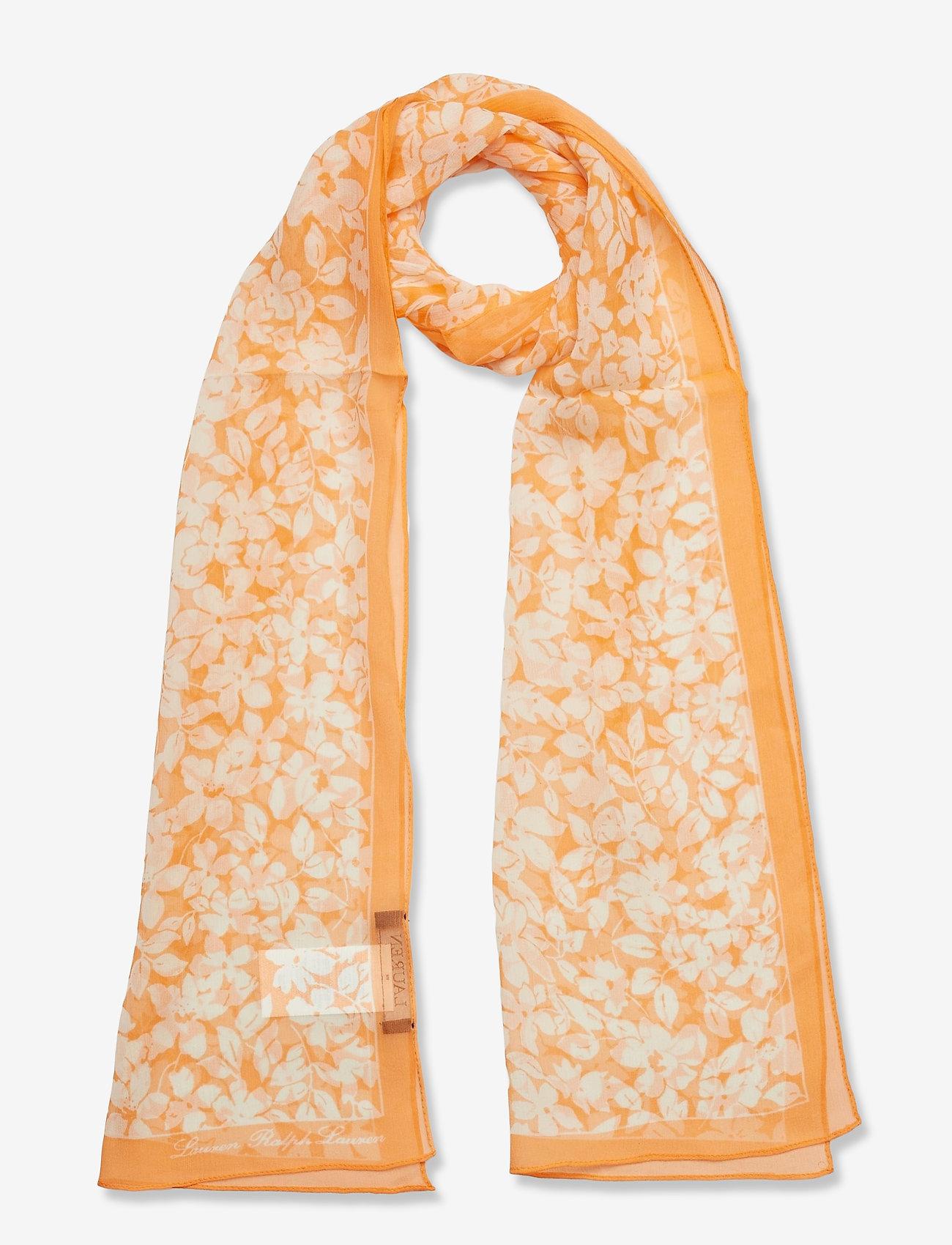 Lauren Ralph Lauren - Janelle Silk Chiffon Scarf - tynde tørklæder - shell - 0