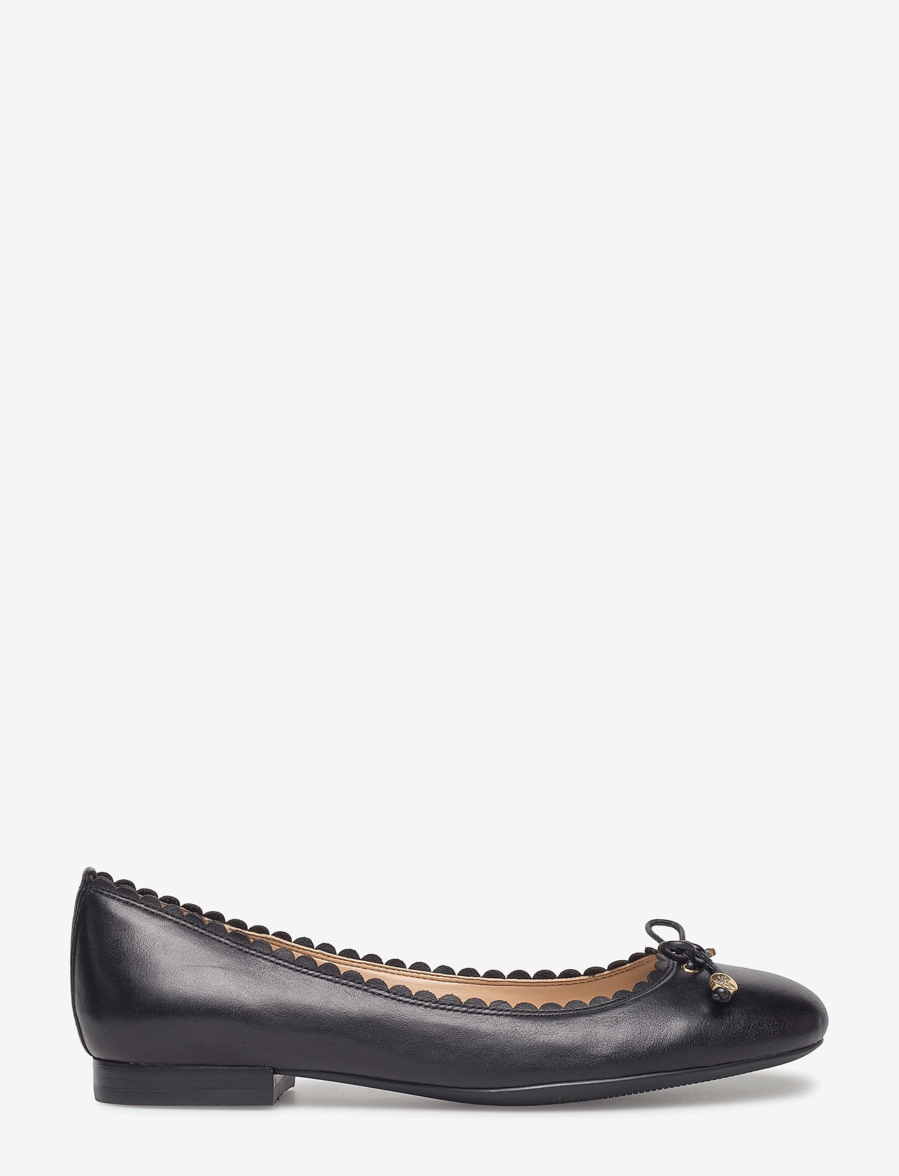 Lauren Ralph Lauren - Glennie Leather Flat - ballerinasko - black - 1