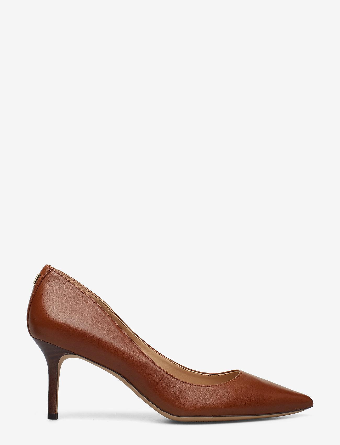Lauren Ralph Lauren - Lanette Leather Pump - klassiske pumps - deep saddle tan - 1