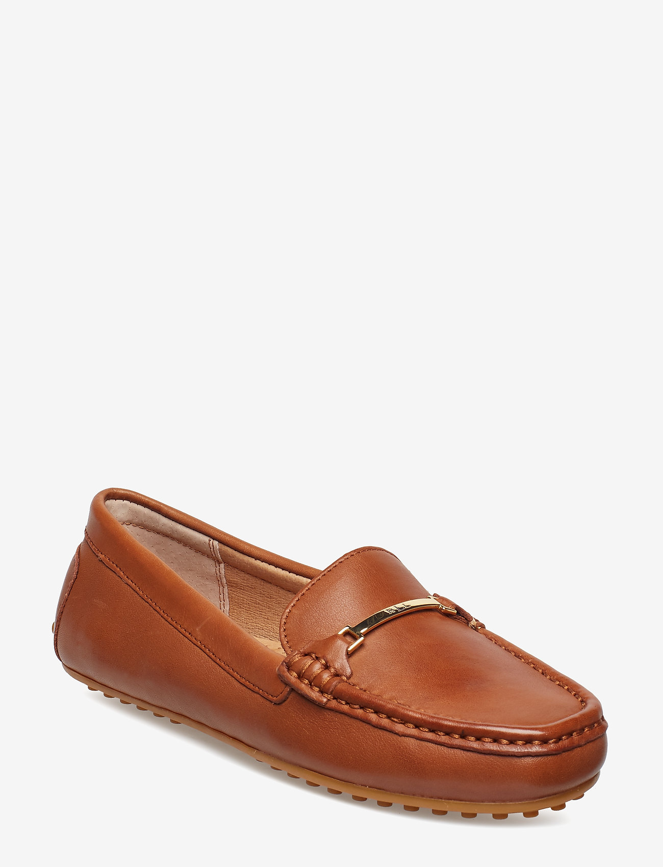 Lauren Ralph Lauren - Briony Leather Driver - loafers - deep saddle tan - 0