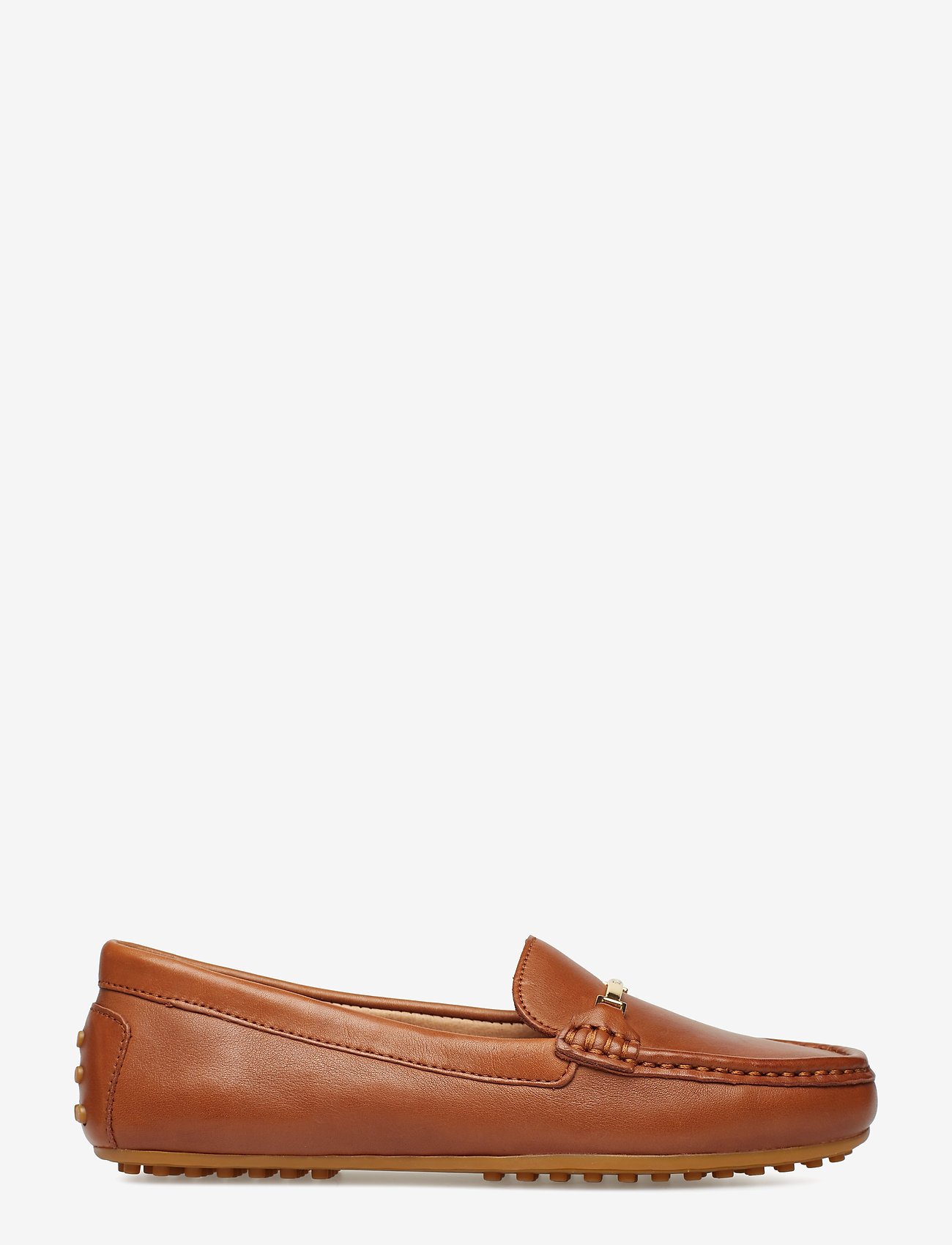 Lauren Ralph Lauren - Briony Leather Driver - loafers - deep saddle tan - 1