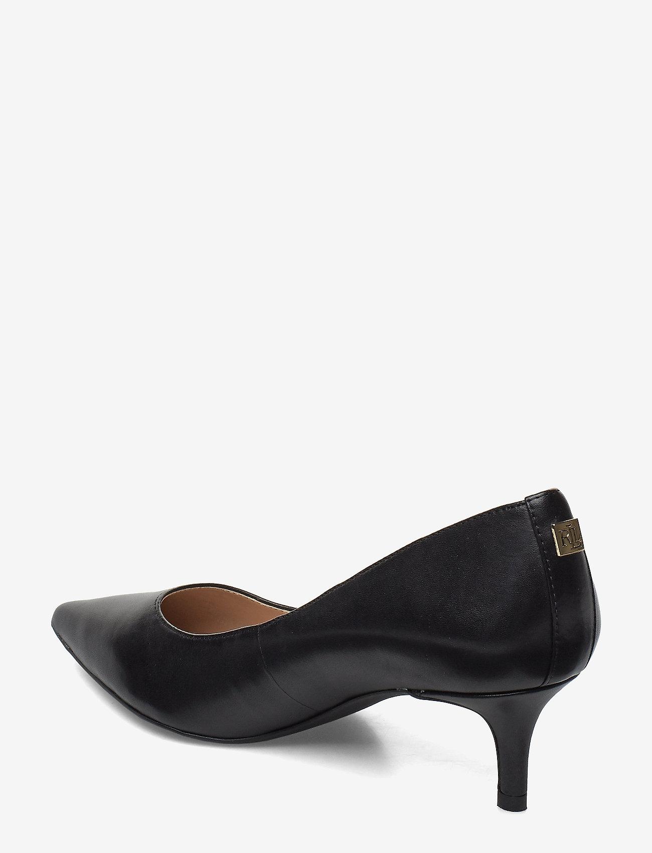 Adrienne Leather Pump (Black) - Lauren Ralph Lauren