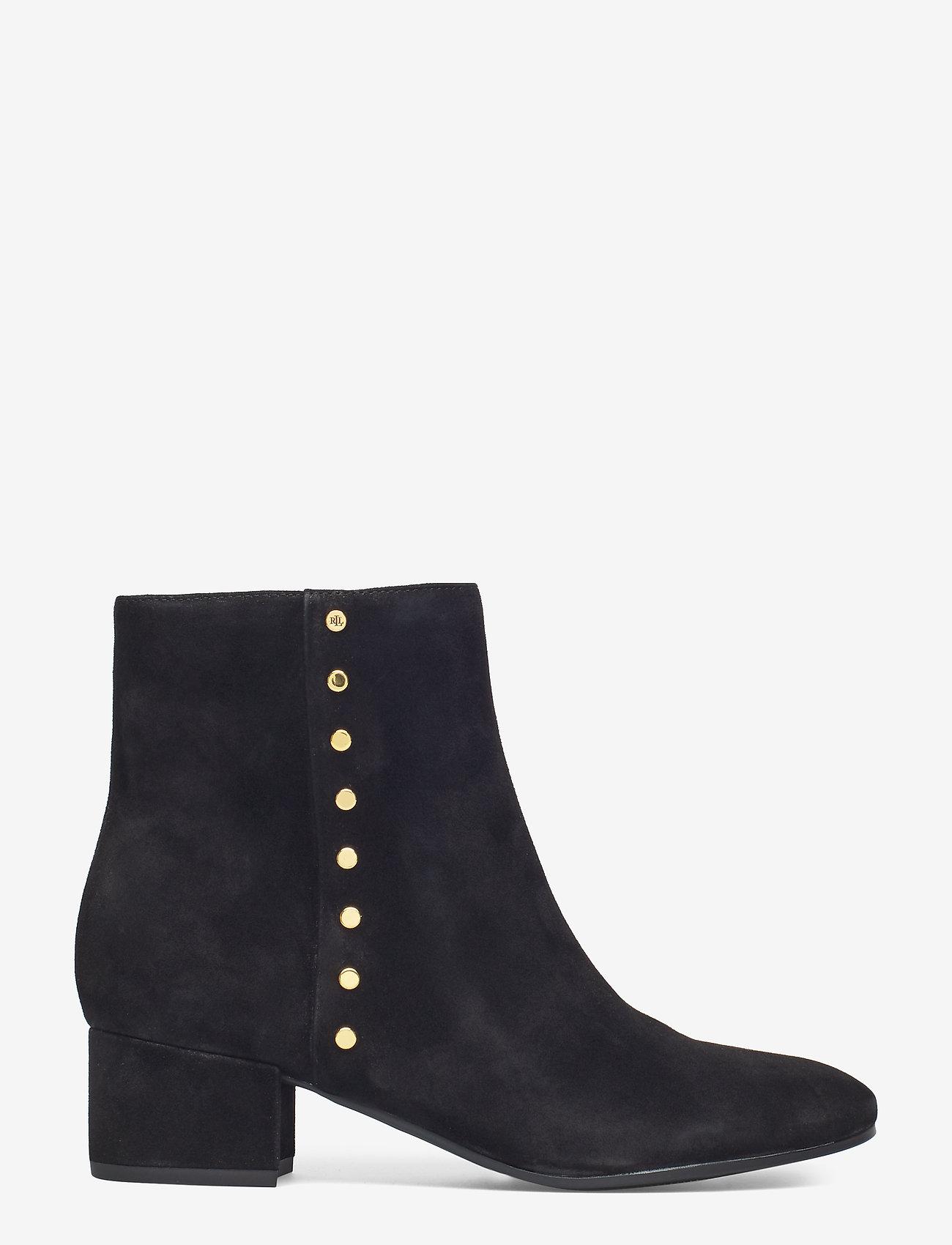 Lauren Ralph Lauren - Wharton Suede Boot - ankelstøvletter med hæl - black