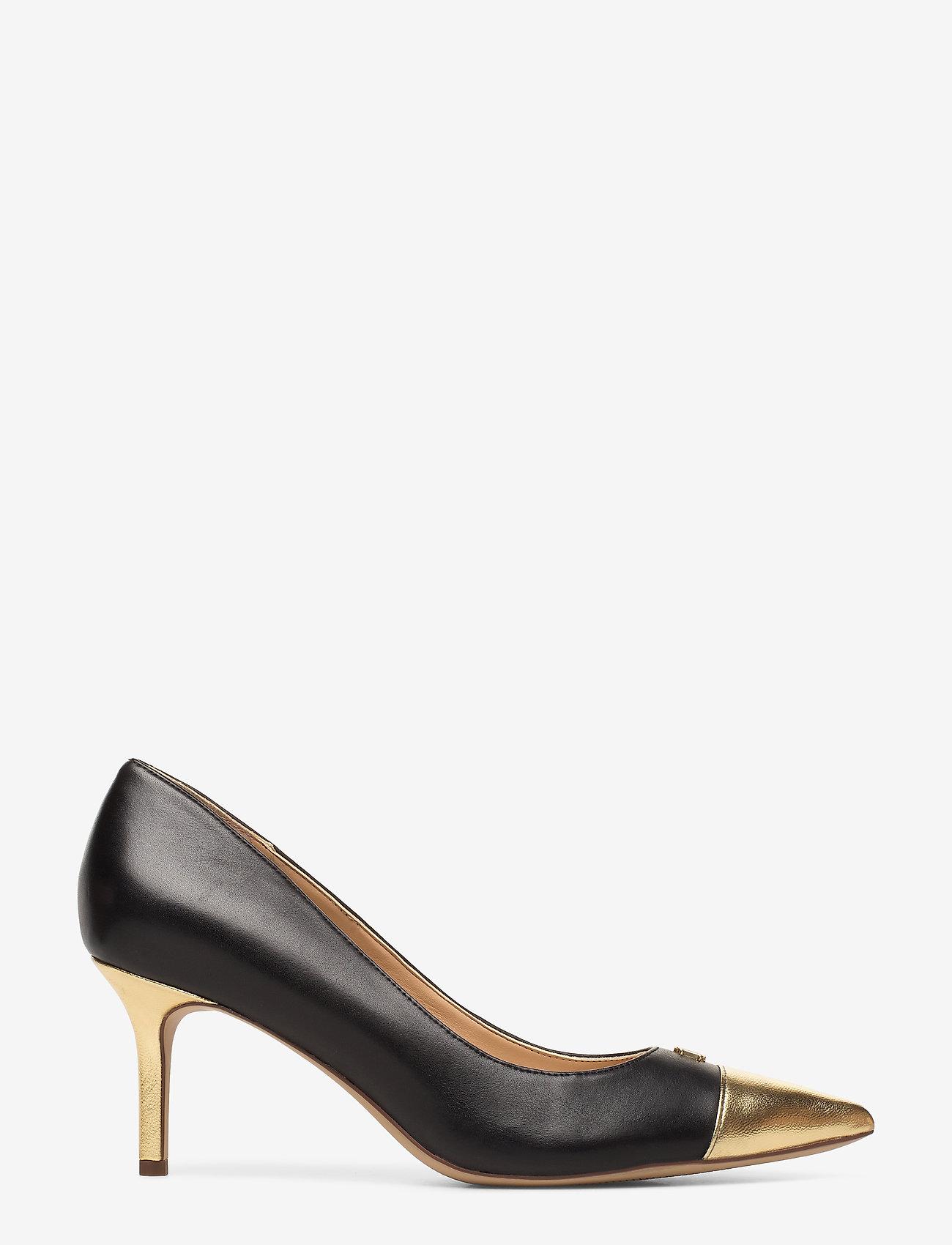Lanette Leather Toe-cap Pump (Black/gold Rush) - Lauren Ralph Lauren 7d9EC9