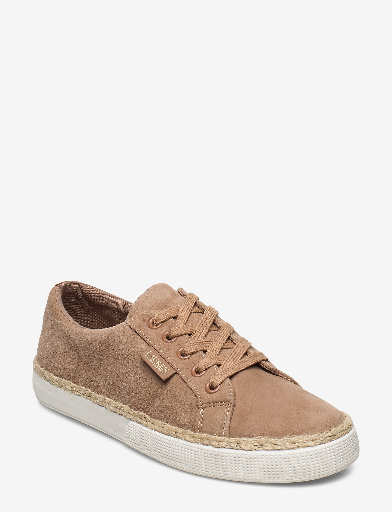 Lauren Ralph Lauren - Jaycee Suede Sneaker - sneakersy niskie - khaki - 0