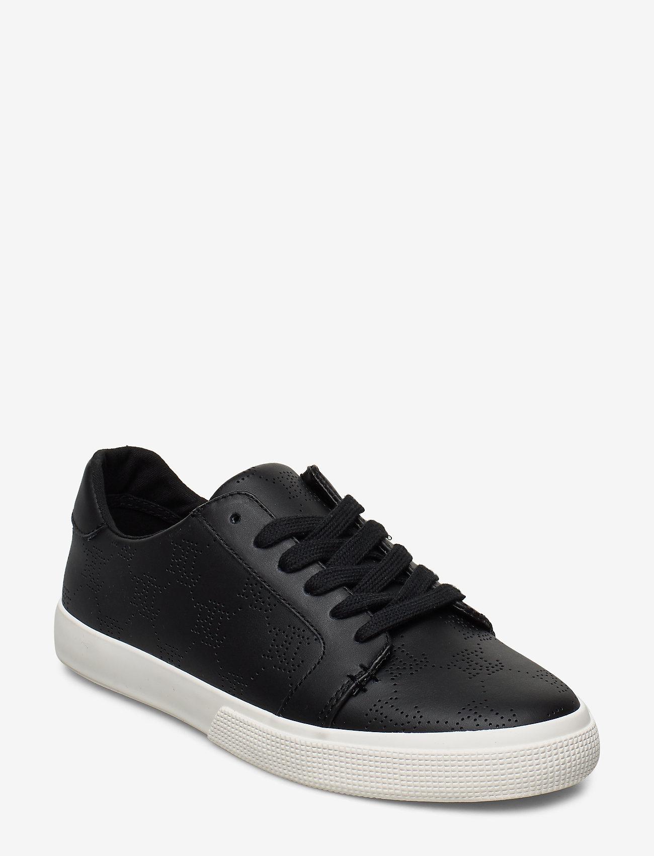 Lauren Ralph Lauren - Joslin Leather Sneaker - sneakersy niskie - black - 0