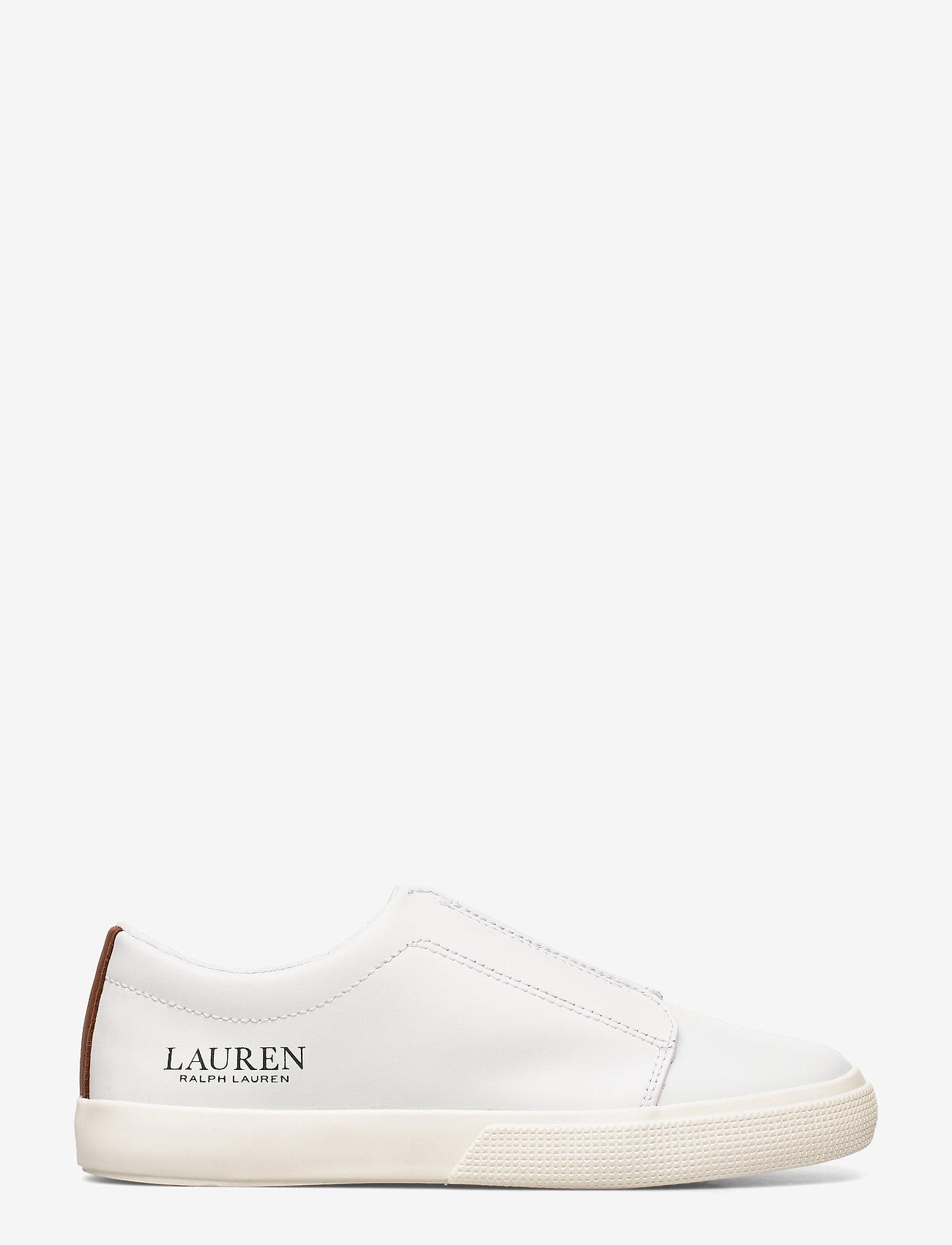 Judith Leather Slip-on Sneaker (Rl White/deepsadd) - Lauren Ralph Lauren WHOuQD