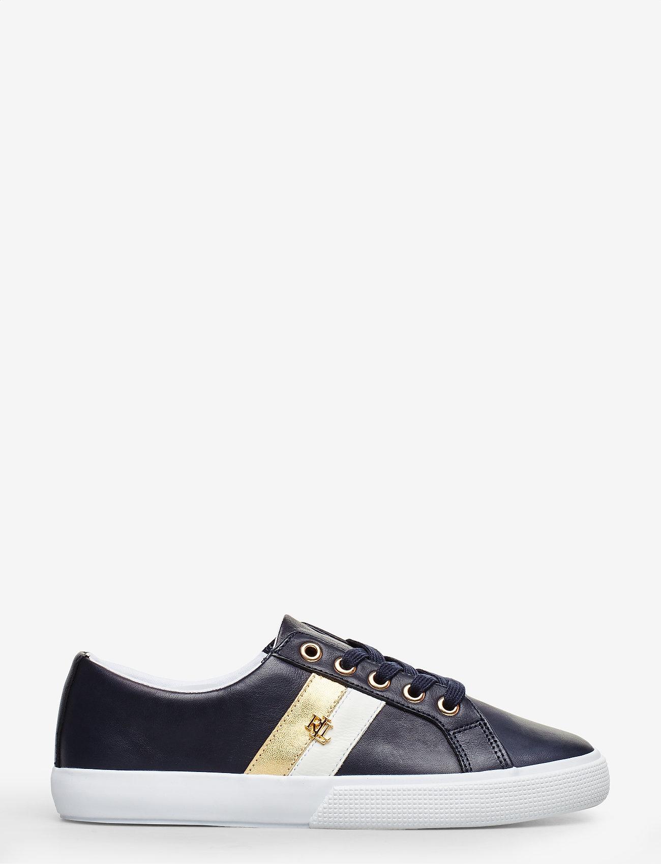 Lauren Ralph Lauren - Janson II Leather Sneaker - sneakersy niskie - lauren navy/optic - 1