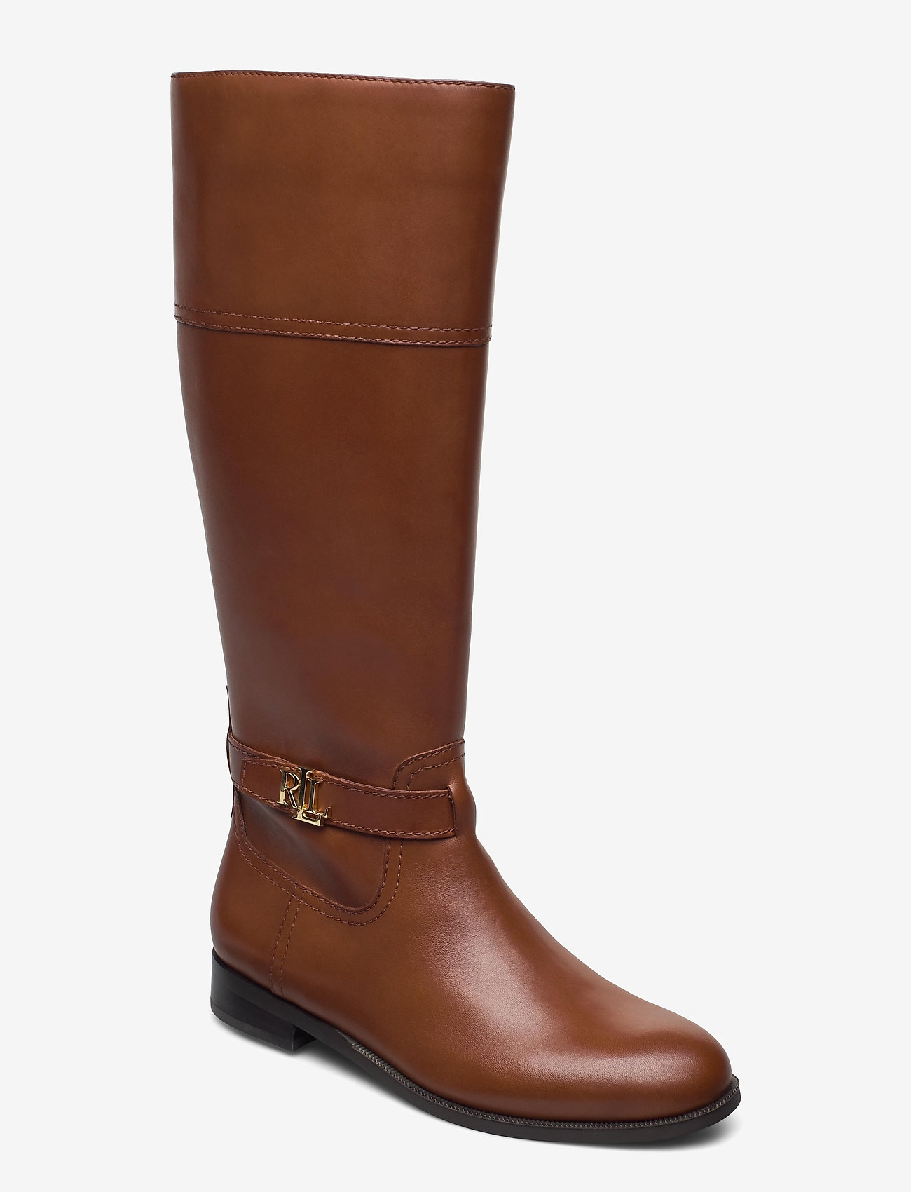 Lauren Ralph Lauren - Baylee Leather Boot - lange laarzen - deep saddle tan - 0