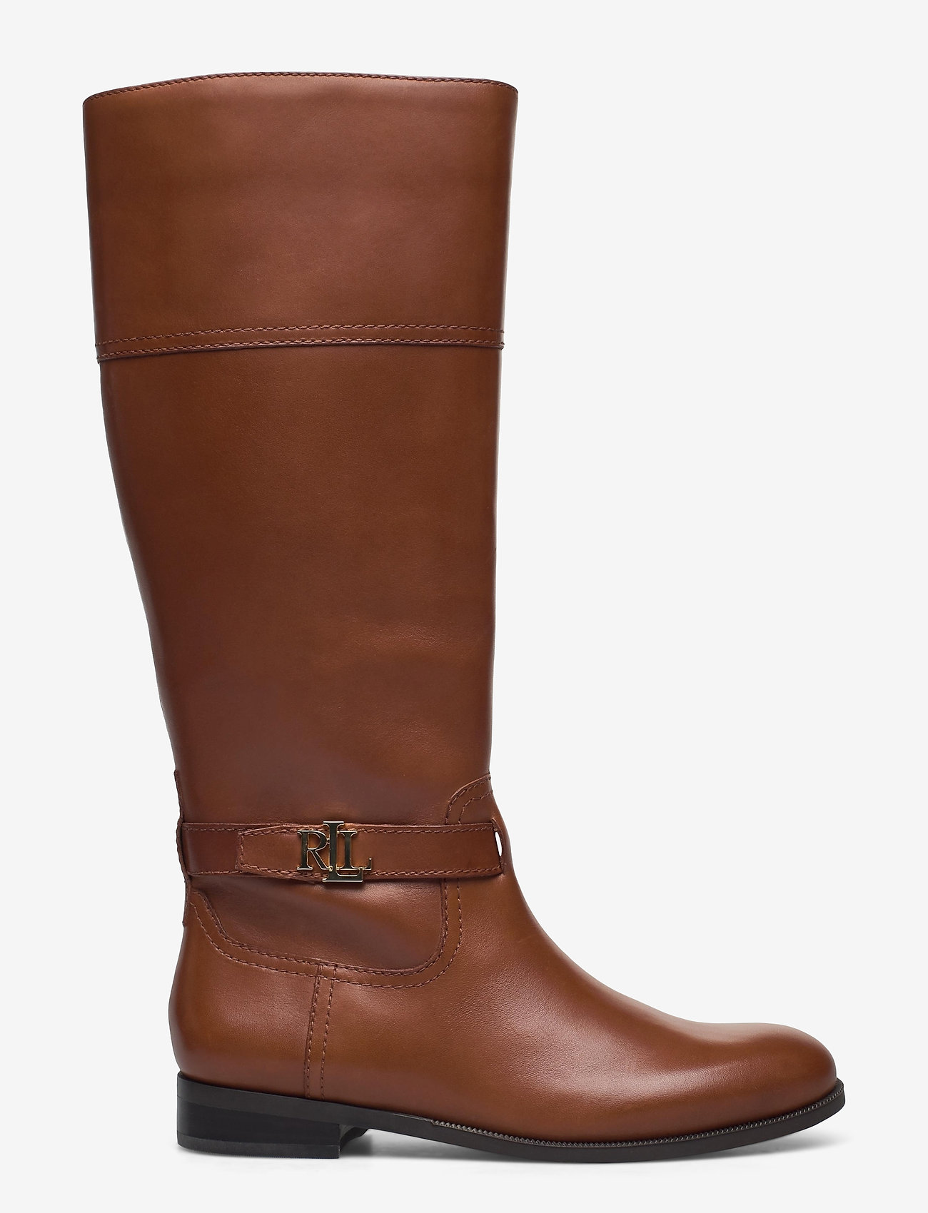 Lauren Ralph Lauren - Baylee Leather Boot - lange laarzen - deep saddle tan - 1