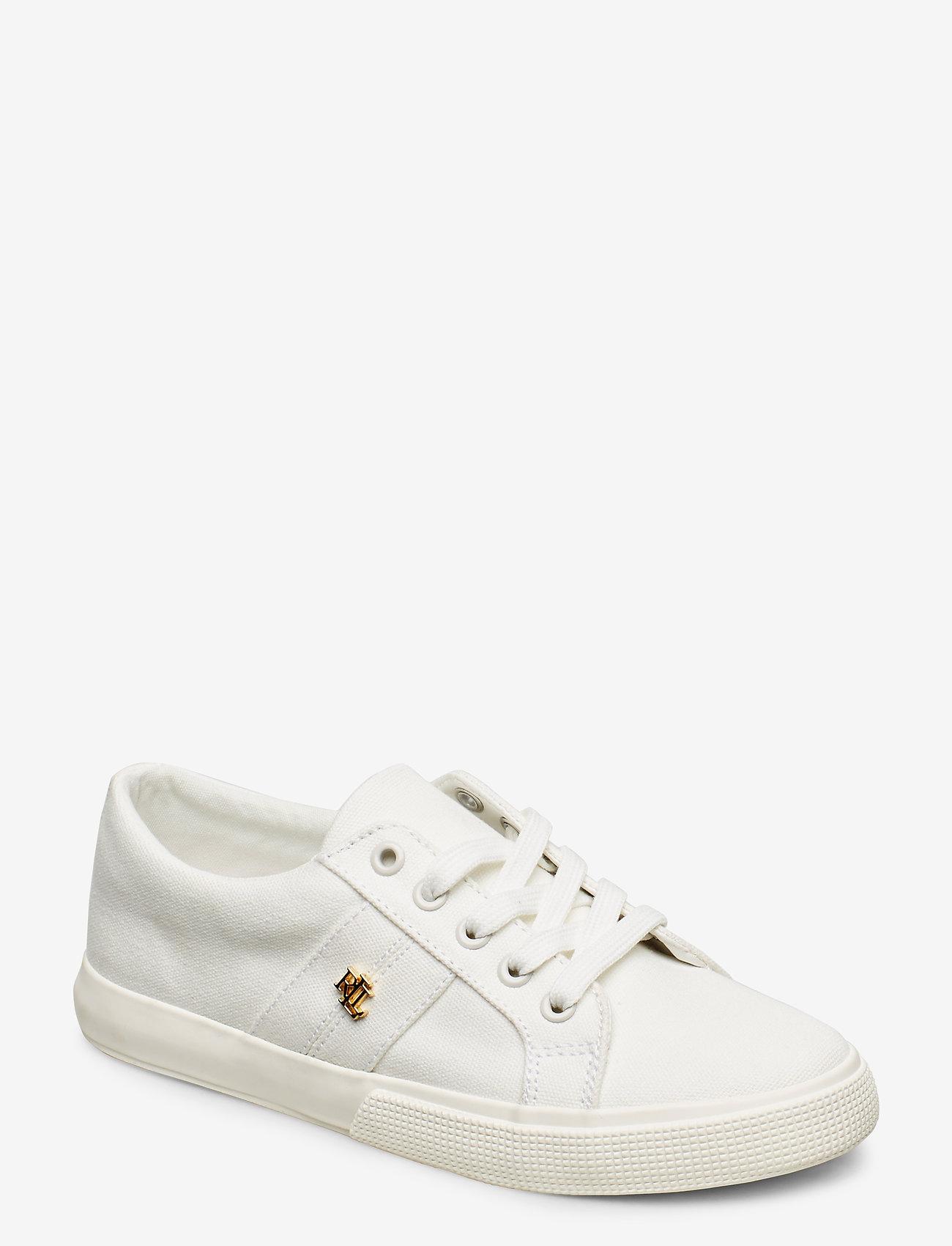 Lauren Ralph Lauren - Janson II Canvas Sneaker - lave sneakers - optic white - 0