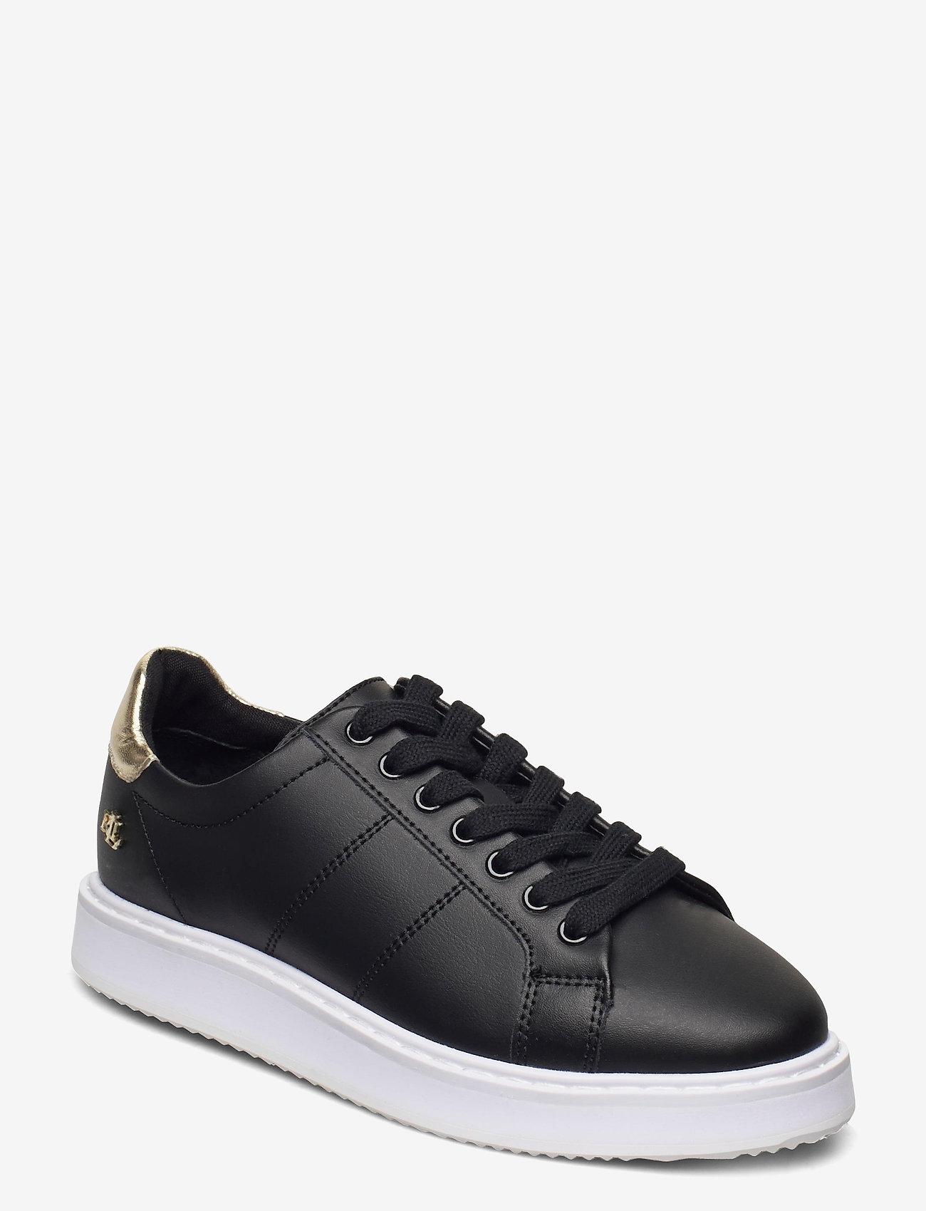 Lauren Ralph Lauren - Angeline II Metallic Sneaker - lave sneakers - black/pale gold - 1