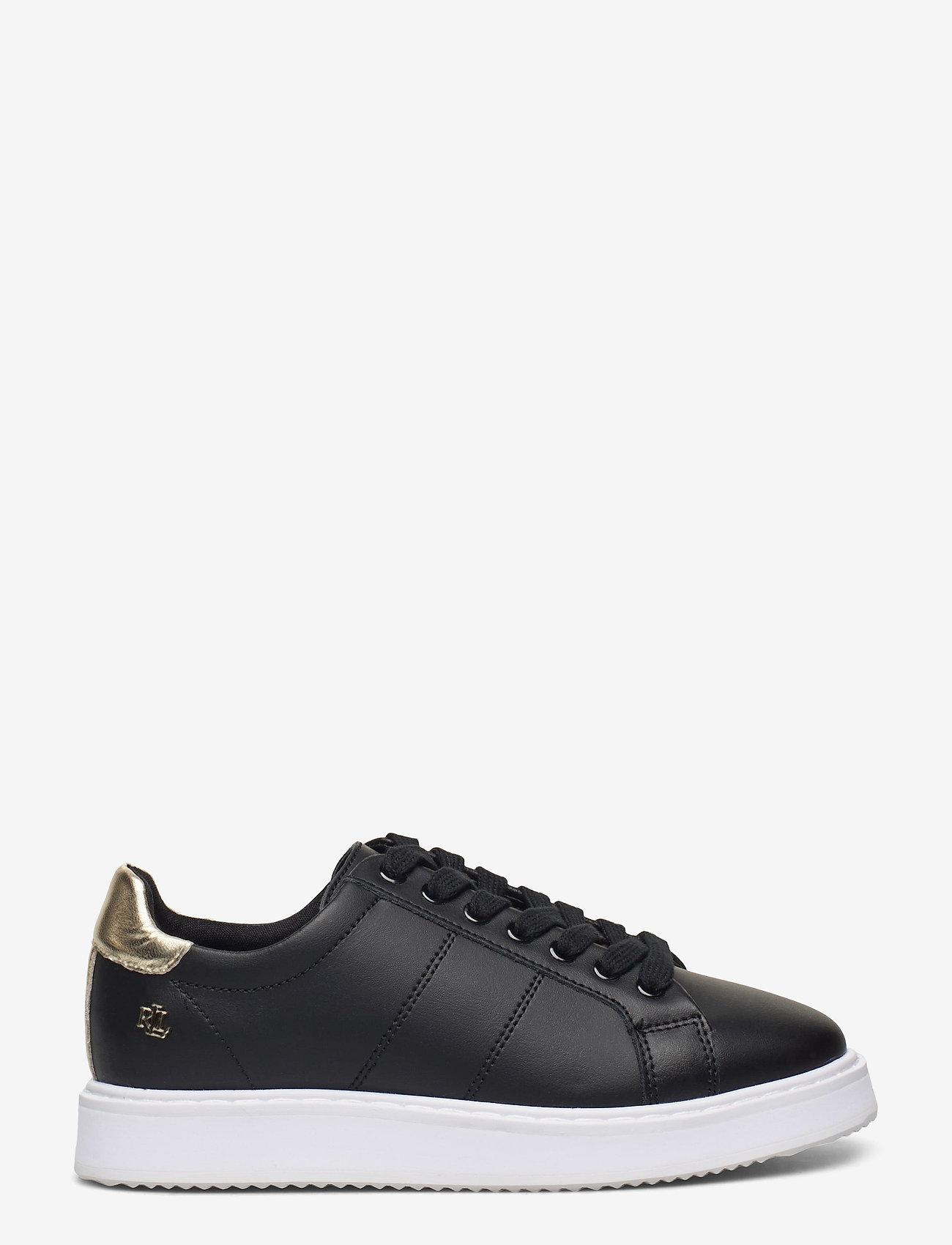 Lauren Ralph Lauren - Angeline II Metallic Sneaker - lave sneakers - black/pale gold - 0