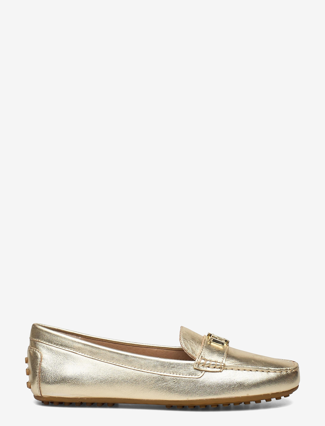 Lauren Ralph Lauren - Barnsbury Metallic Loafer - loafers - pale gold - 1