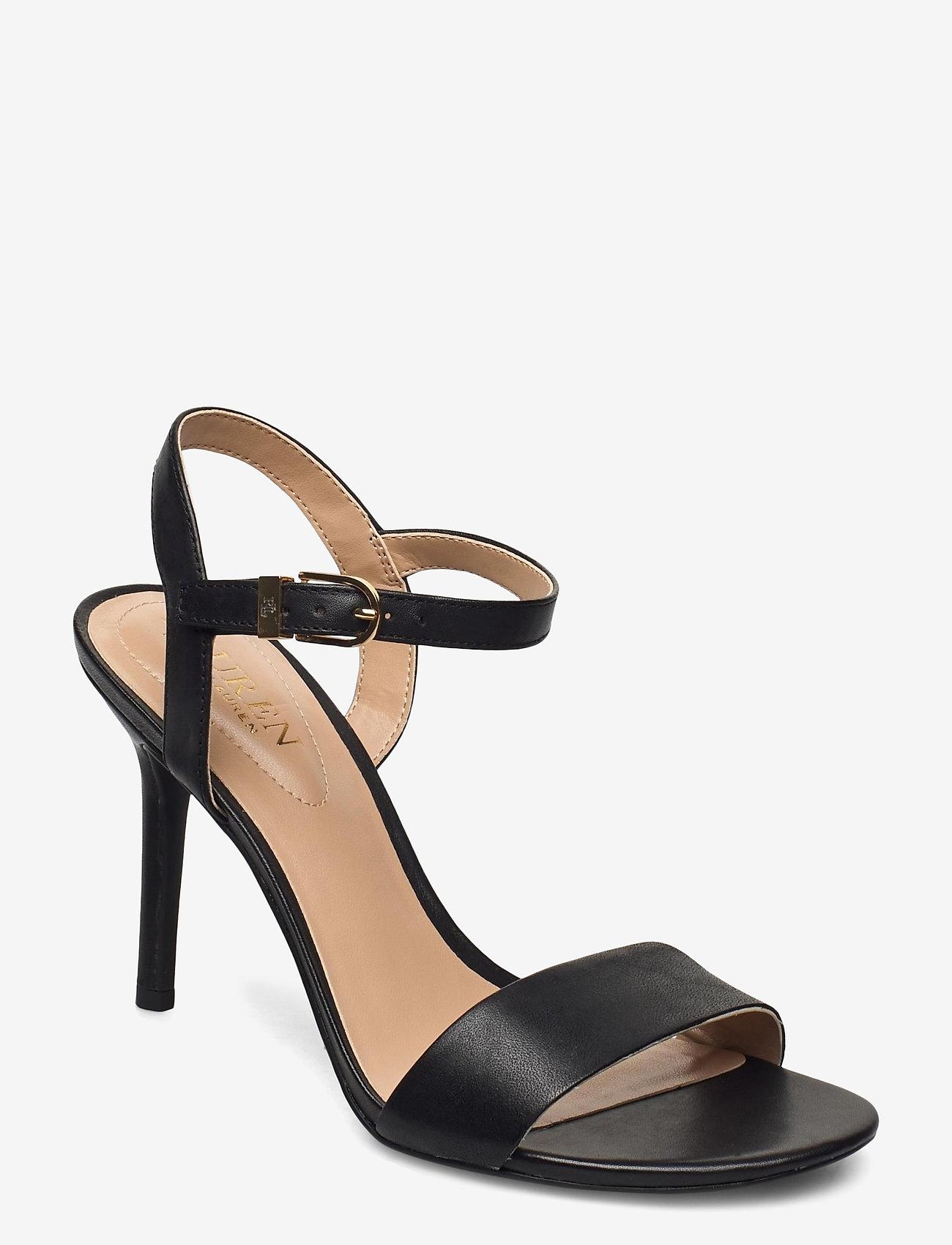 Lauren Ralph Lauren - Gwen Leather Sandal - højhælede sandaler - black - 0