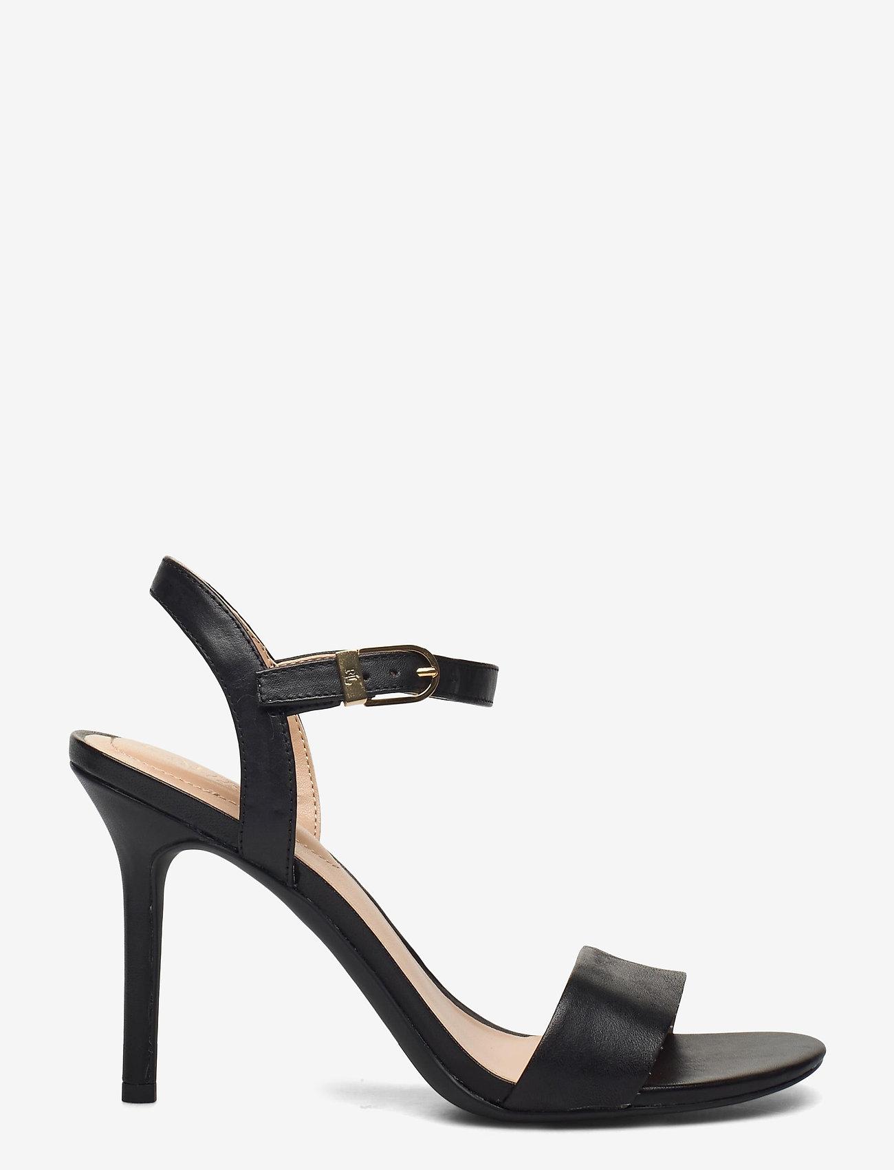 Lauren Ralph Lauren - Gwen Leather Sandal - højhælede sandaler - black - 1
