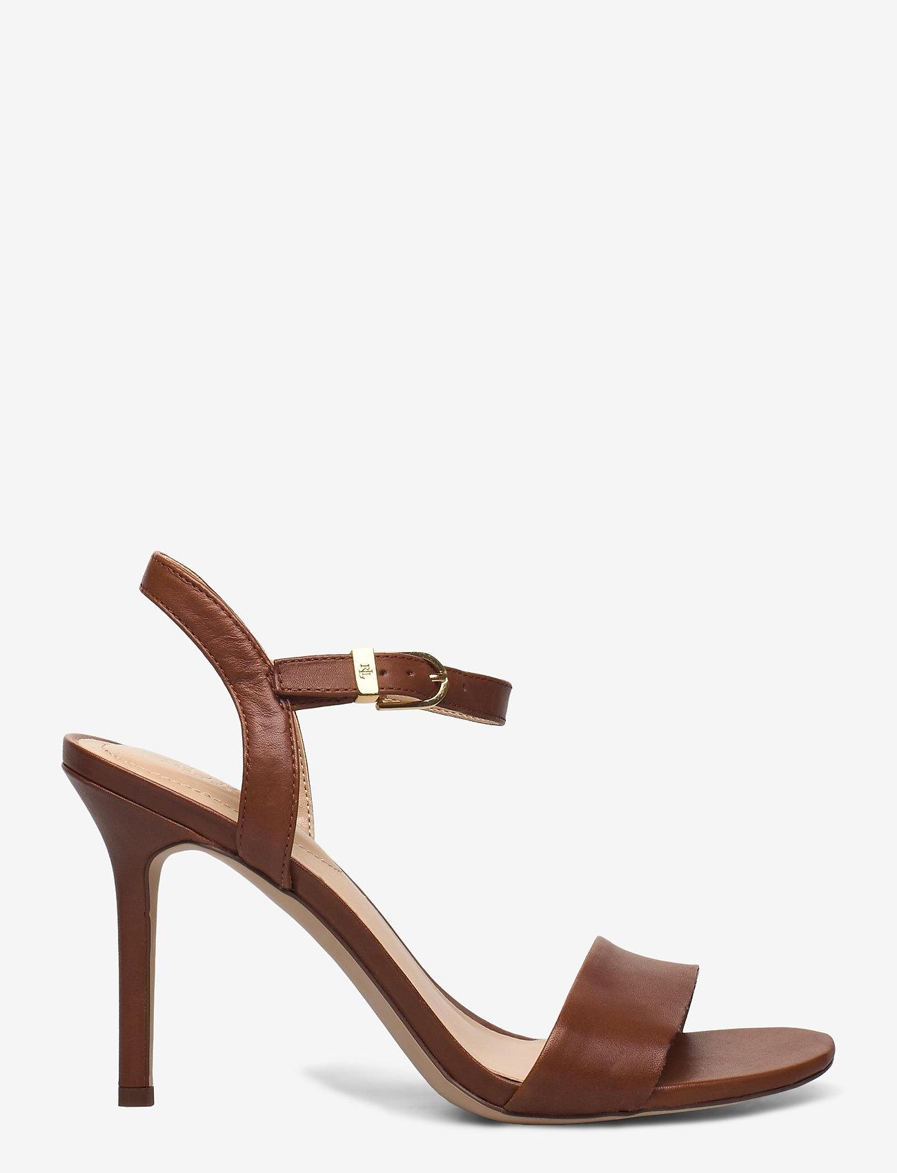 Lauren Ralph Lauren - Gwen Leather Sandal - højhælede sandaler - deep saddle tan - 1