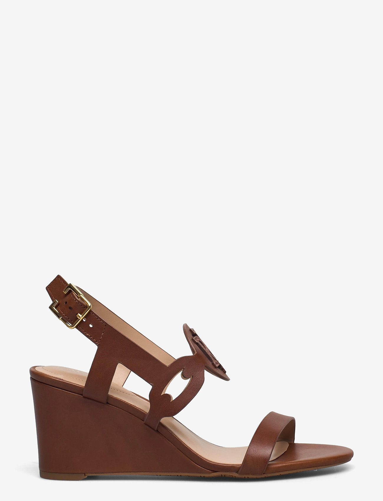 Lauren Ralph Lauren - Amilea Burnished Leather Wedge - kilehæl - deep saddle tan - 0