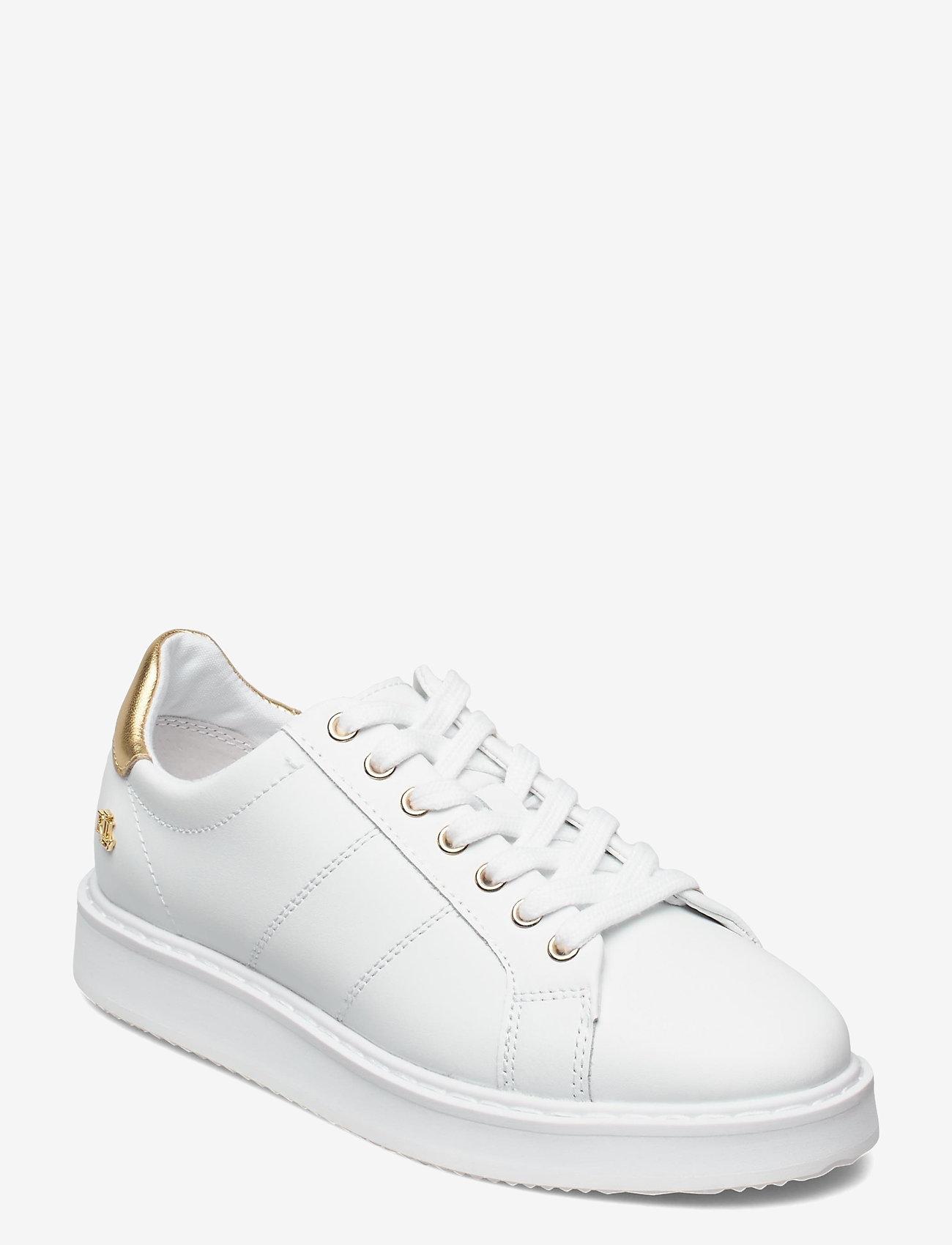 Lauren Ralph Lauren - Angeline II Metallic Sneaker - lave sneakers - white/rlgold - 0