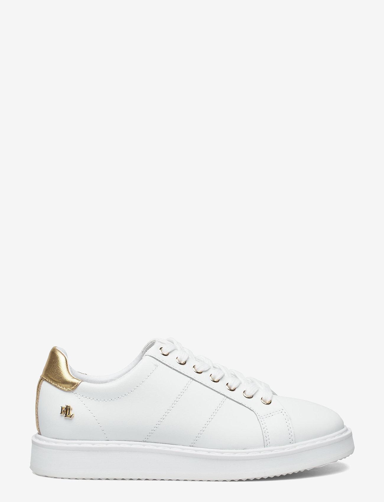 Lauren Ralph Lauren - Angeline II Metallic Sneaker - lave sneakers - white/rlgold - 1