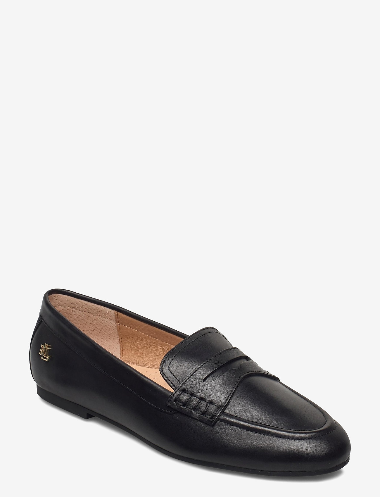 Lauren Ralph Lauren - Adison Burnished Leather Loafer - instappers - black - 0