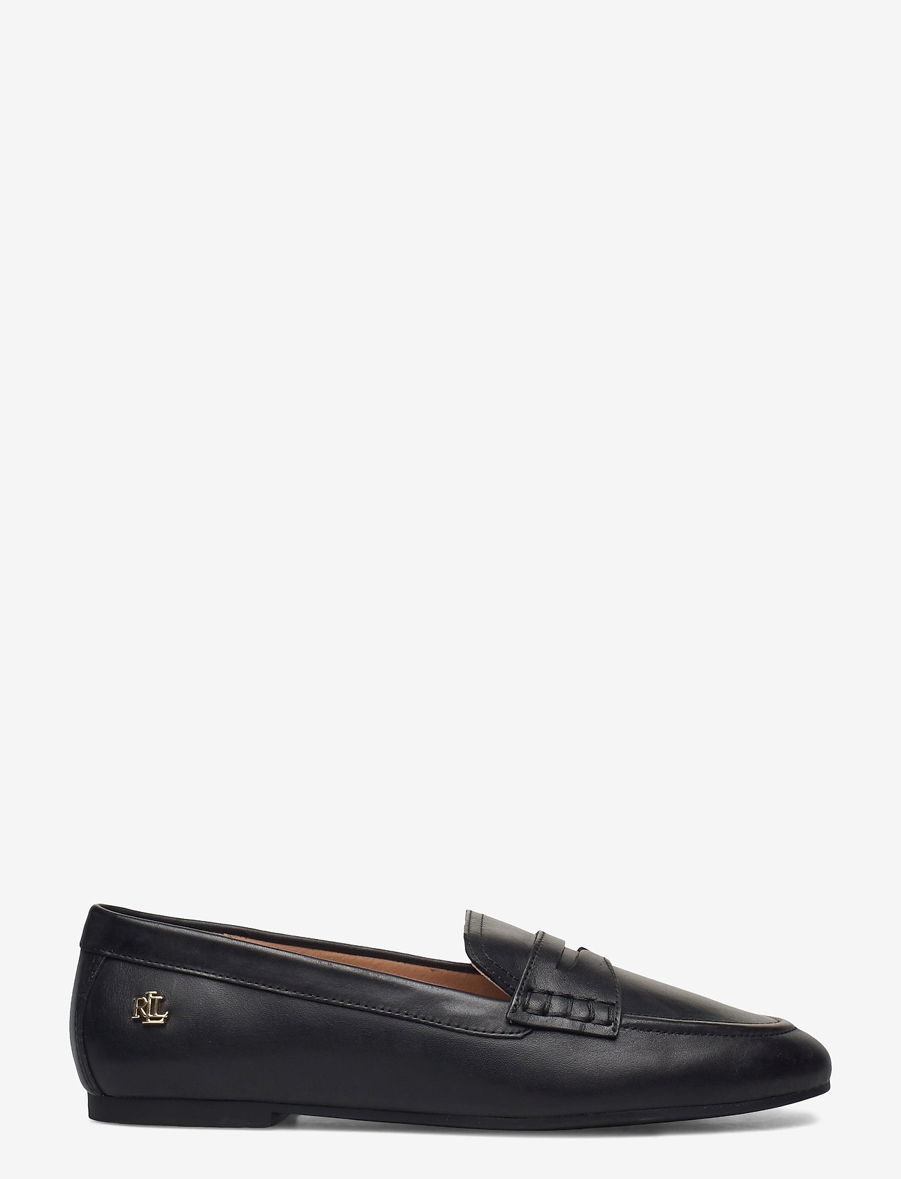 Lauren Ralph Lauren - Adison Burnished Leather Loafer - instappers - black - 1