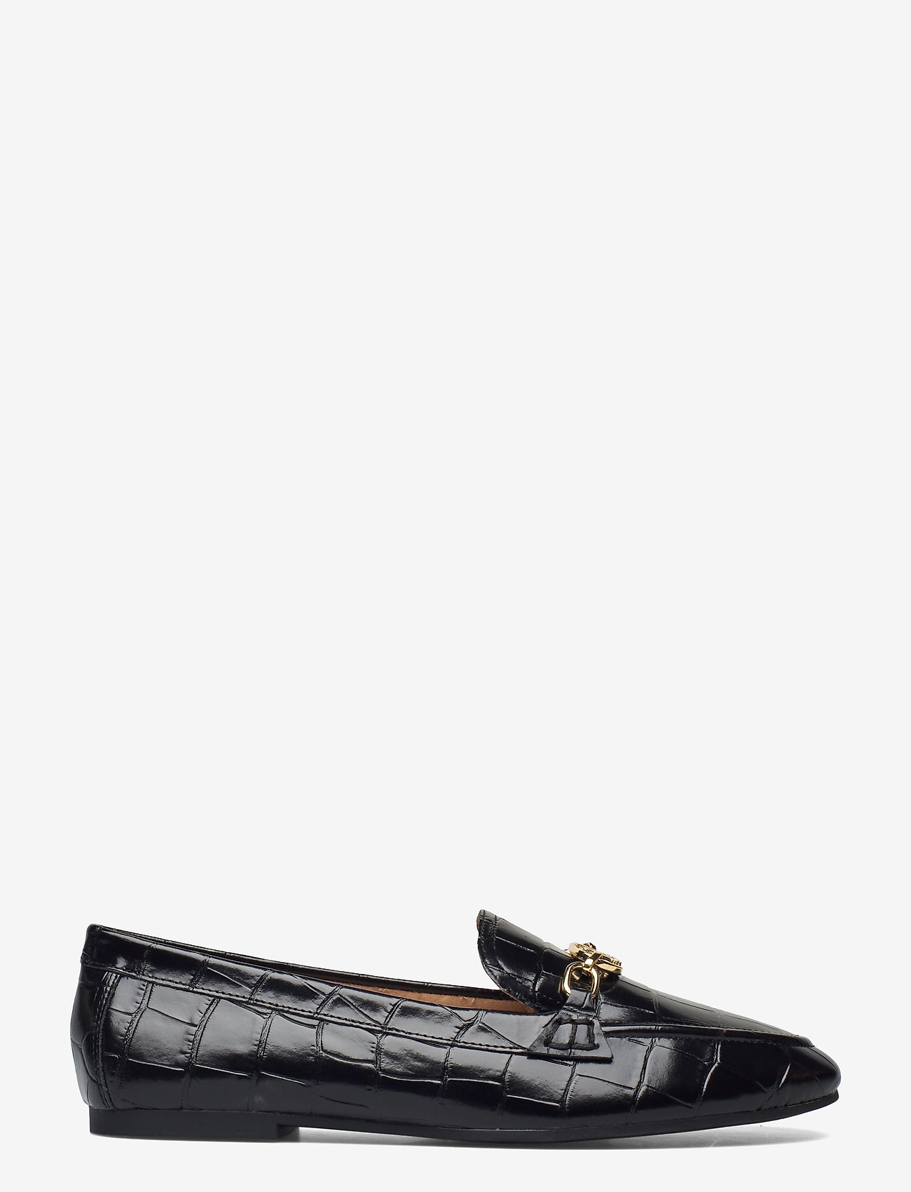 Lauren Ralph Lauren - Averi Embossed Leather Loafer - loafers - black - 1
