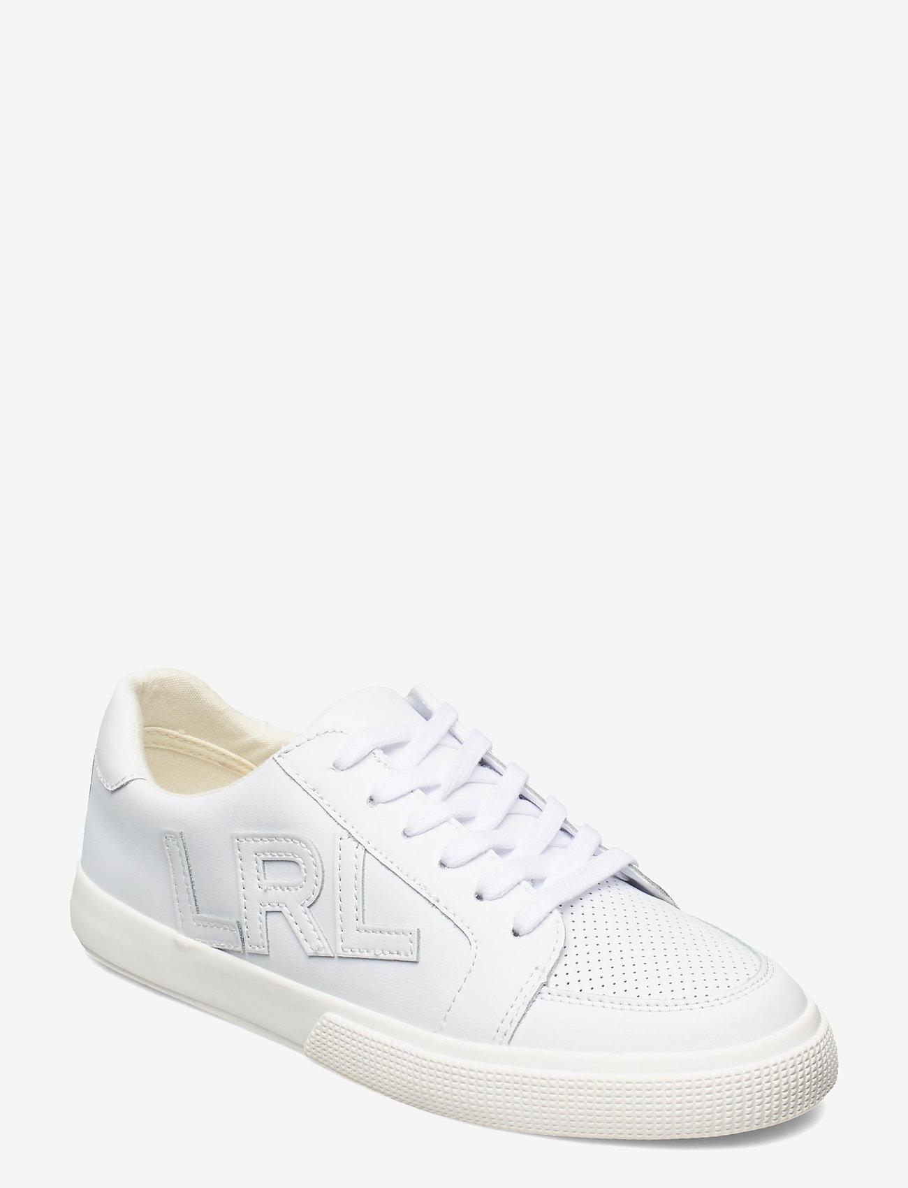 Lauren Ralph Lauren - Jaede Action Leather Sneaker - lave sneakers - rl white - 0
