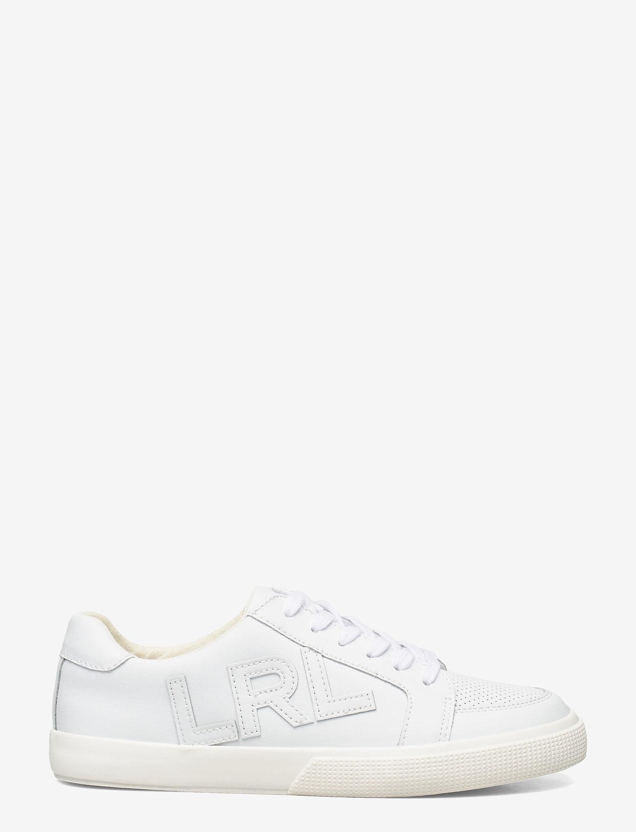 Lauren Ralph Lauren - Jaede Action Leather Sneaker - lave sneakers - rl white - 1