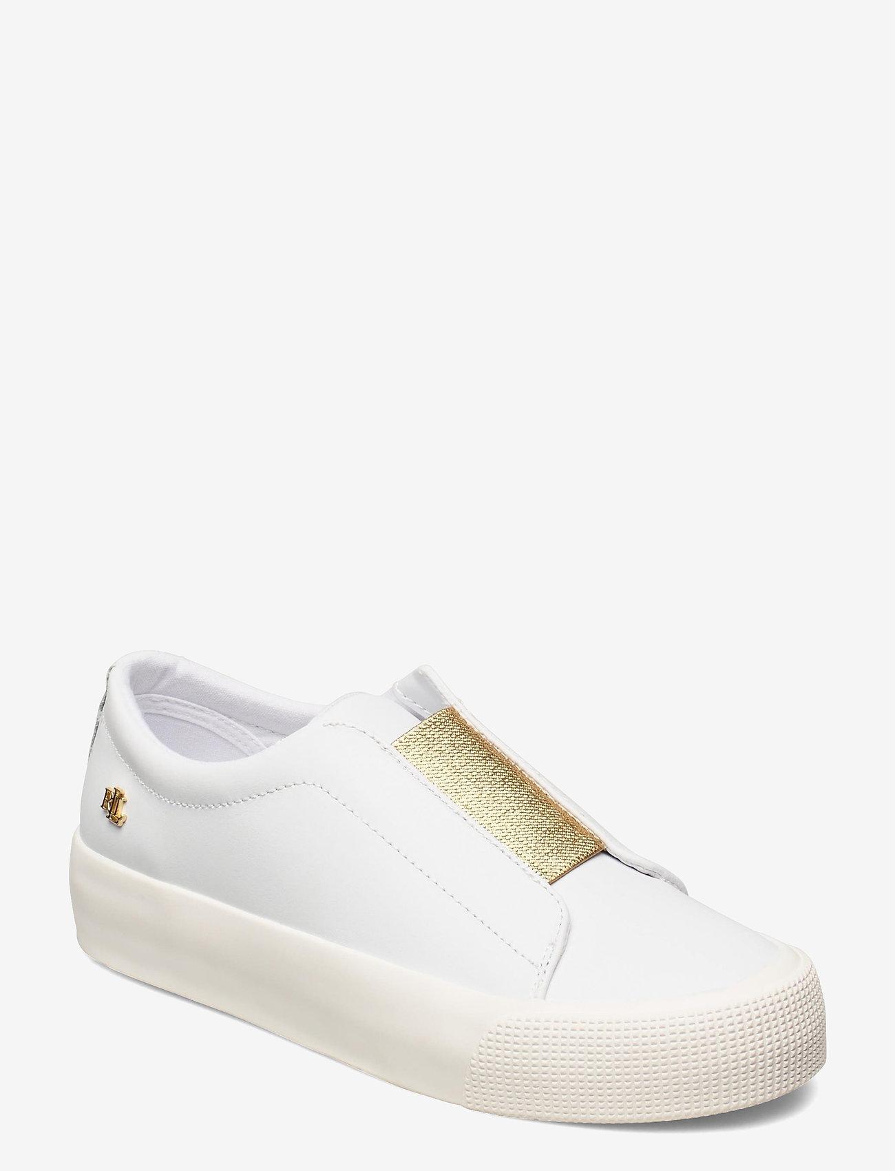 Lauren Ralph Lauren - Isla Action Leather Platform Sneaker - slip-on sneakers - rl white/modern g - 0